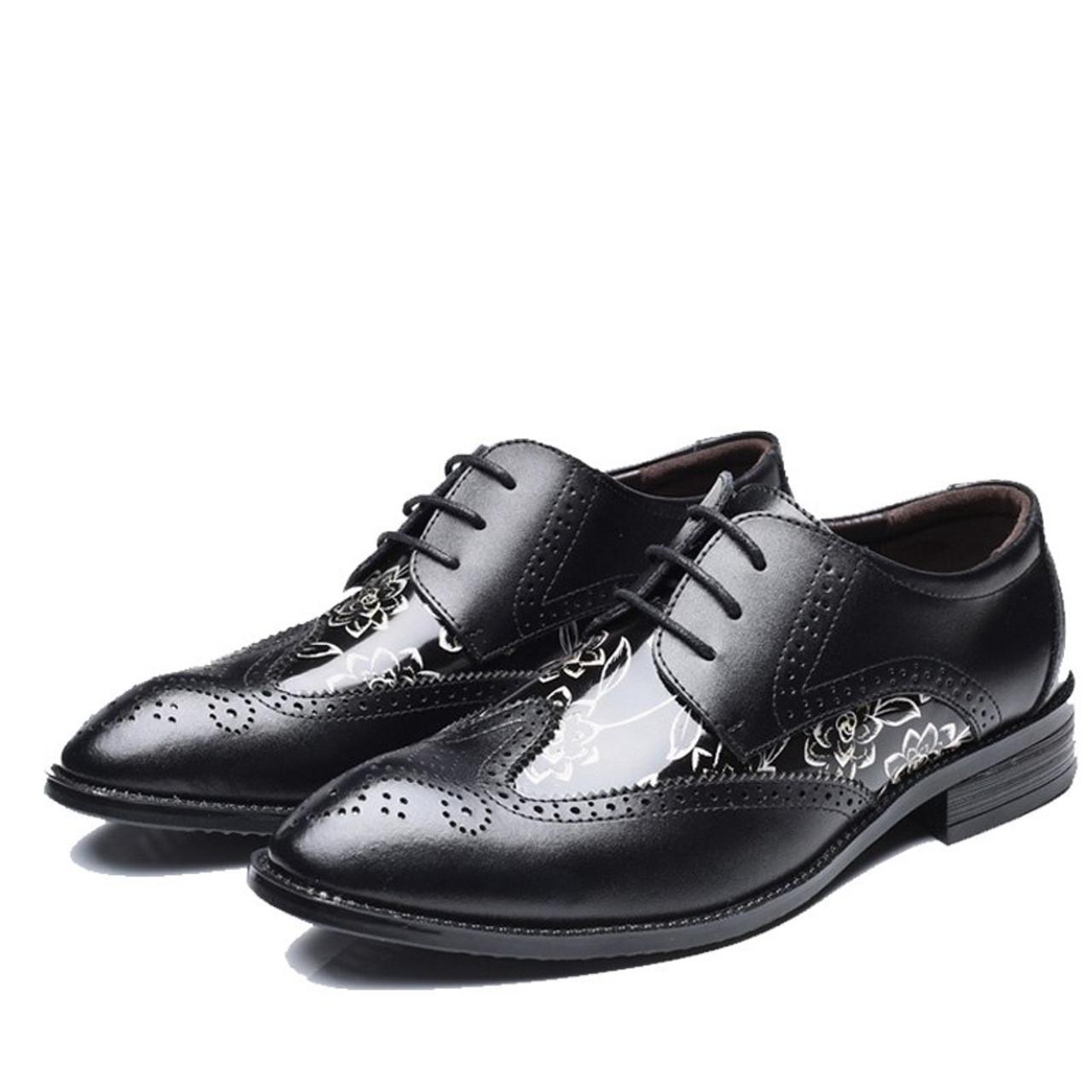 Npezkgc Men Shoes Luxury Brand Classic Fashion Formal Wedding Dress Shoes For Men Oxfords Zapatos Hombre Weaving Leather Shoes Men's Shoes
