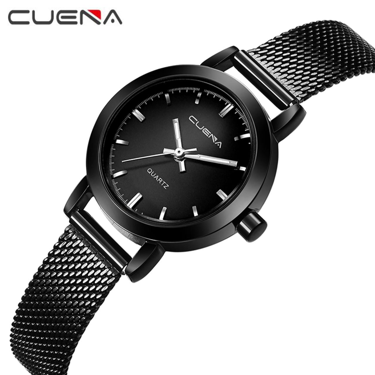 3dff04ad54f Luxury Women Quartz Watch Fashion Ladies Watches Relojes Reloj Mujer Montre  Femme Relogio Feminino CUENA Brand 6627G 6 Colors - OnshopDeals.Com