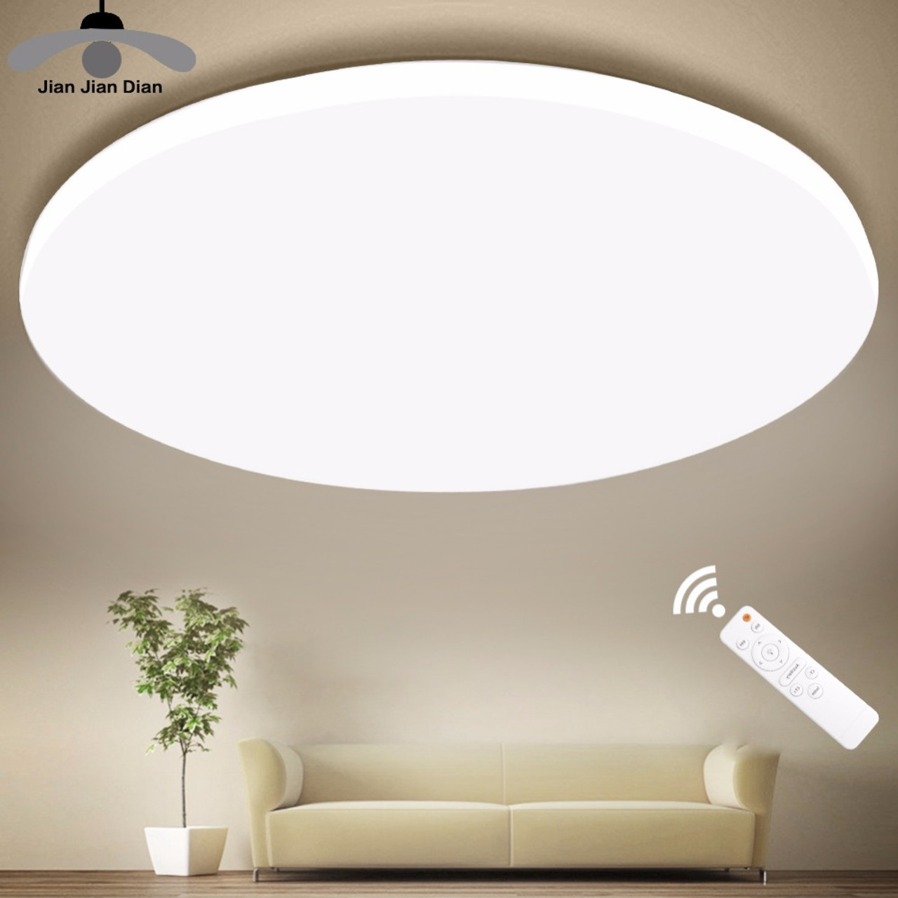 Ultra thin led ceiling led ceiling lights lighting fixture modern lamp living room bedroom kitchen surface mount remote control onshopdeals com