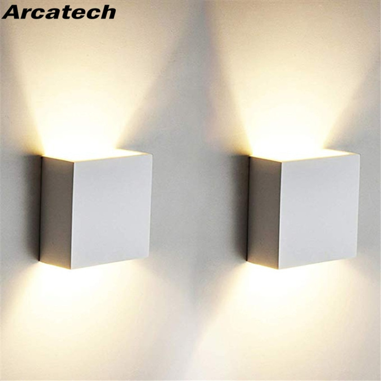 Home Furniture Diy 6w Led Wall Light Up Down Cube Indoor Outdoor Sconce Lights Lamp Fixture Decor Kisetsu System Co Jp