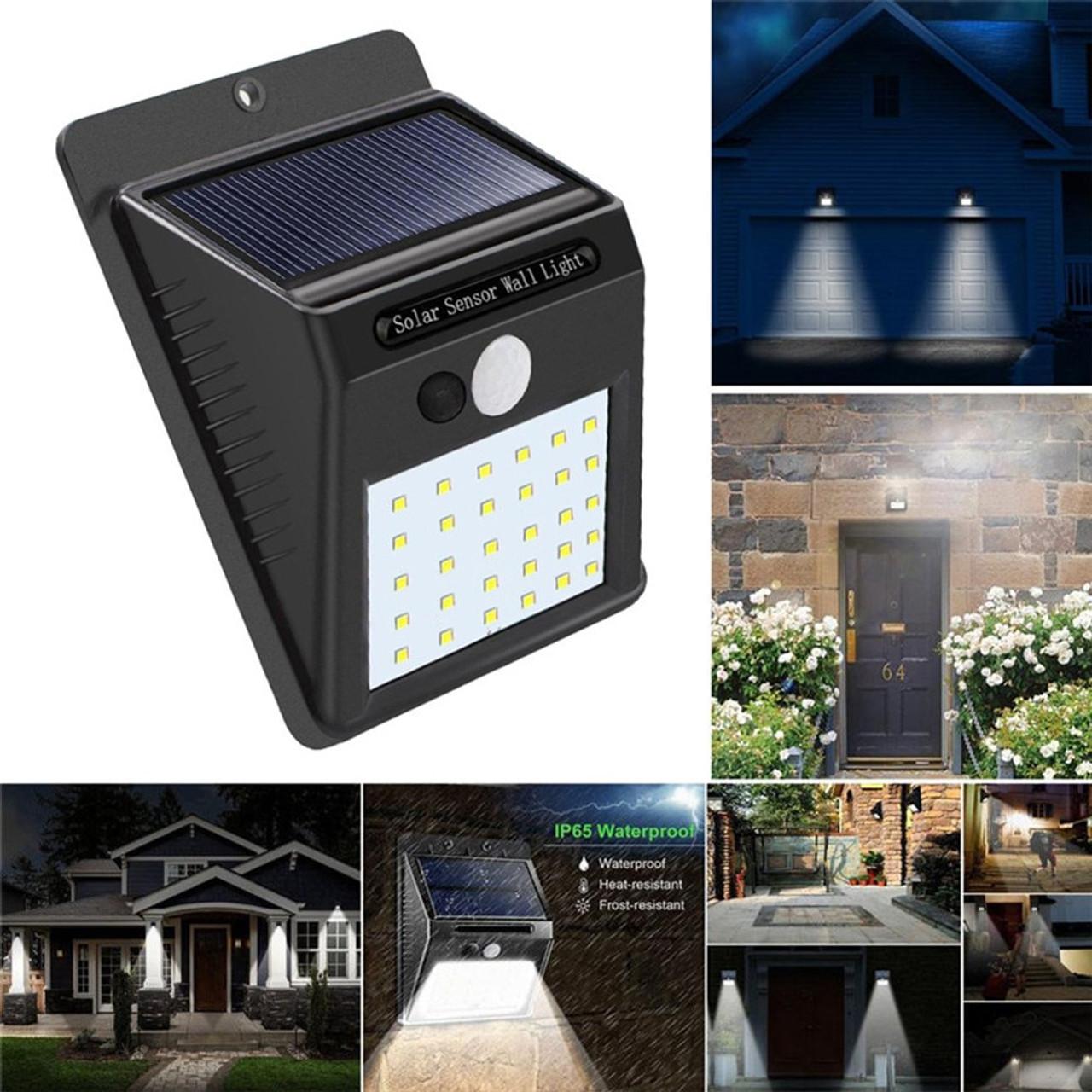 30 Led Outdoor Solar Wall Lamps Garden Light Decoration Pir Motion Sensor Night Security Wall Light Waterproof Wall Lamp Onshopdeals Com
