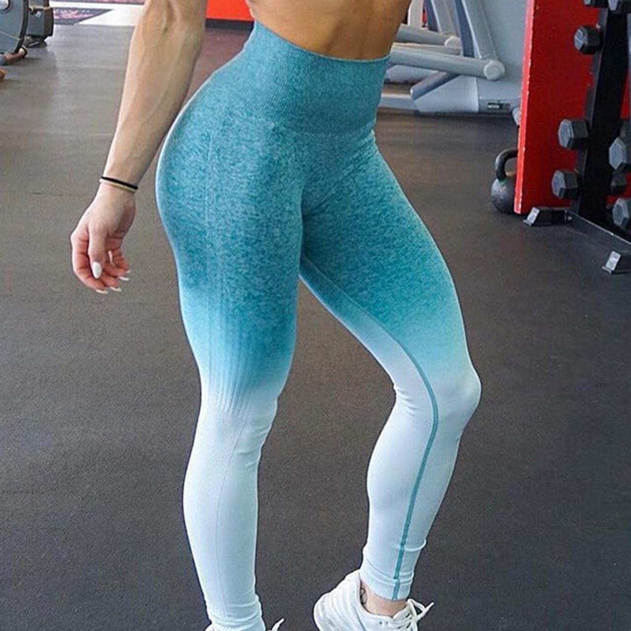 403dd54944dc52 Zhangyunuo Push Up Yoga Leggings Compression Tights Slim Ombre Seamless Gym  Leggings Sport Fitness Tummy Control ...