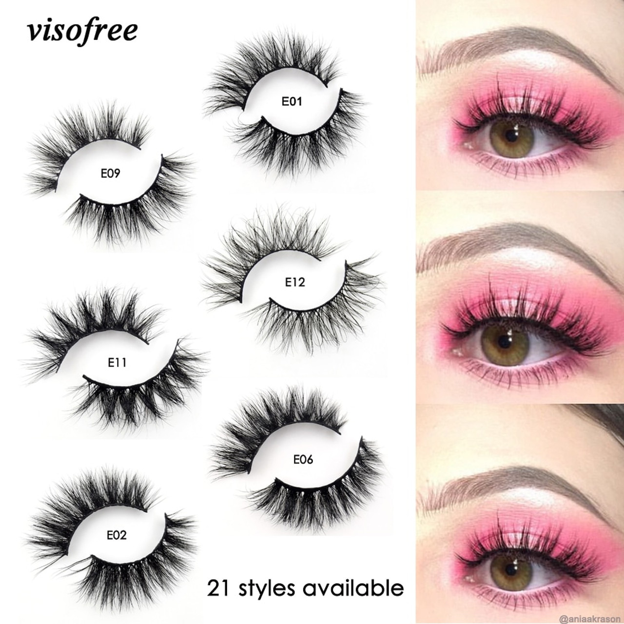 0093aa10383 Visofree Mink Lashes 3D Mink Eyelashes 100% Cruelty free Lashes Handmade  Reusable Natural Eyelashes Popular ... LEHUAMAO Mink Lashes 3D Mink False  ...