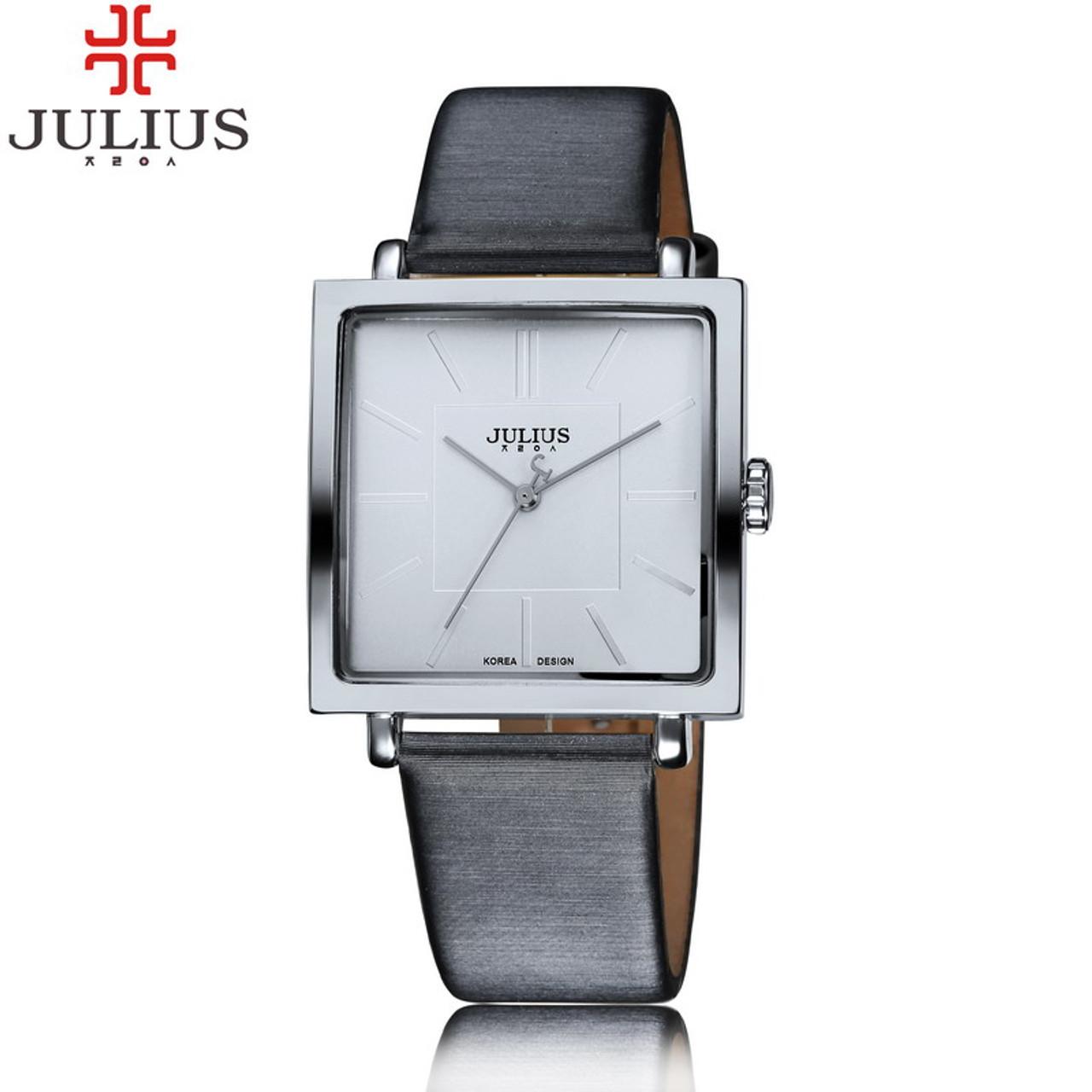 a513c8d7078 ... 2017 JULIUS Quartz Brand Lady Watches Women Luxury Rose Gold Antique  Square Leather Dress Wrist watch ...