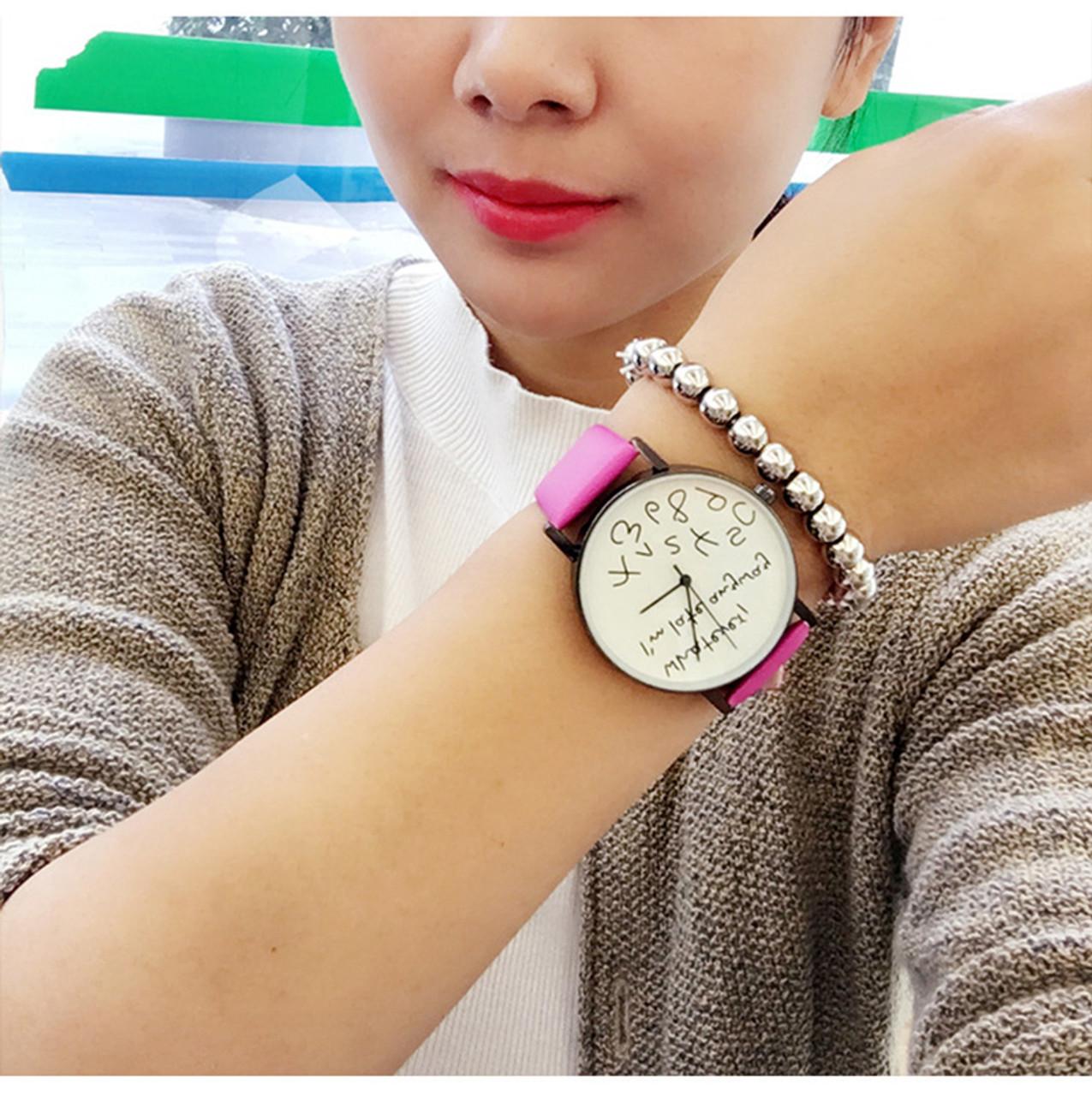 89ea33ba3e37a ... New 2018 Popular Women Casual Watch ladies Leather Luxury Watches Woman  Sport Quartz Wristwatch simple female ...