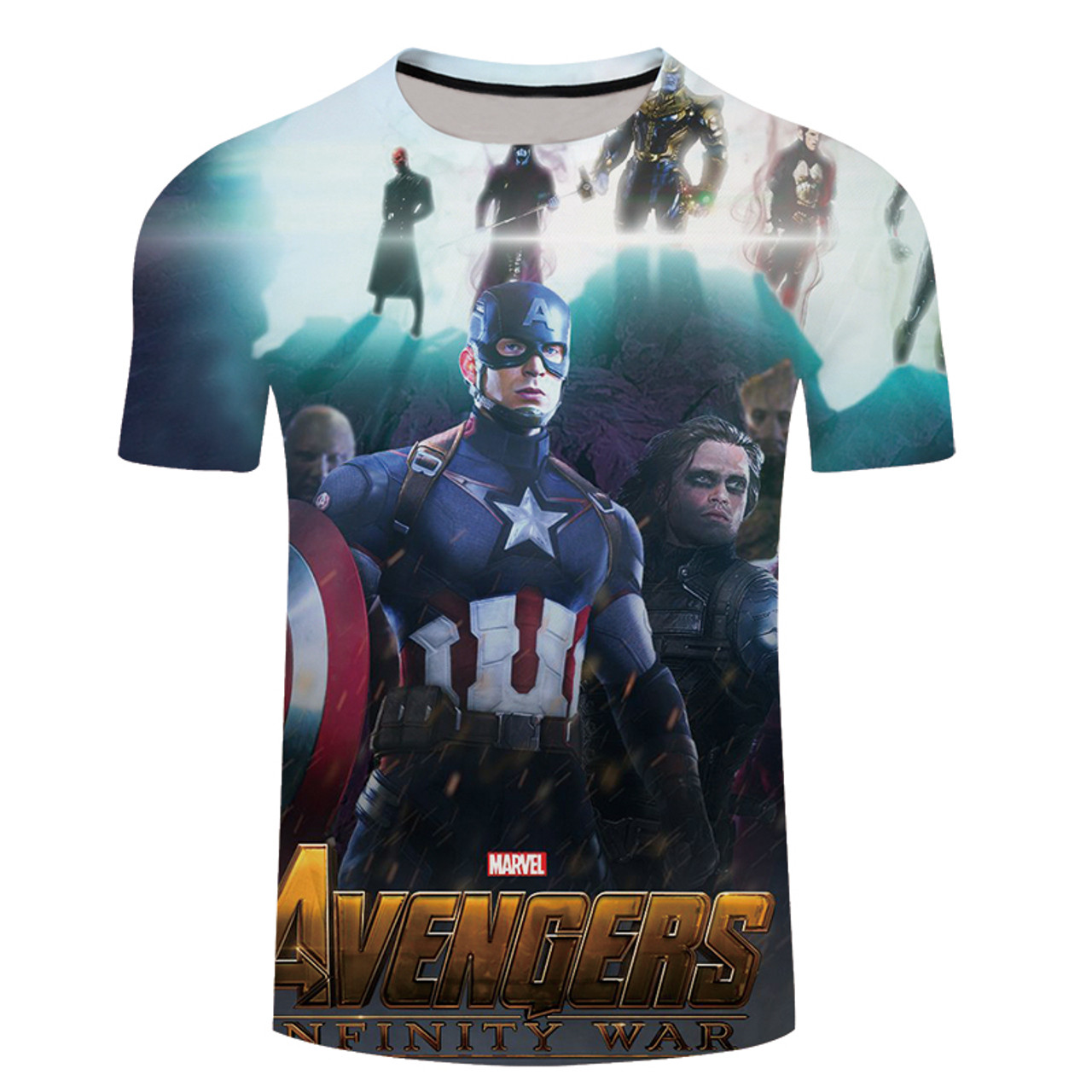 919c2428ba780 ... 2018 Marvel Avengers 3 Infinity War 3d Compression Short Sleeve T Shirt  Men New Fashion Summer ...
