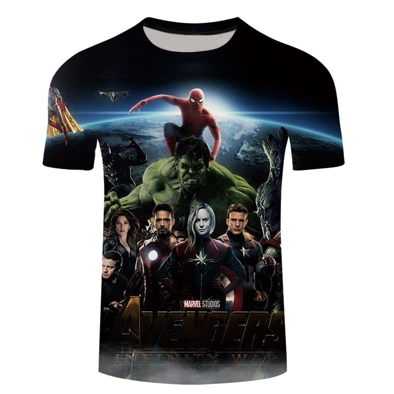 78fc3604 Marvel Avengers 3 Infinity War Spiderman 3D Print T-shirt Men/Women Superhero  T ...