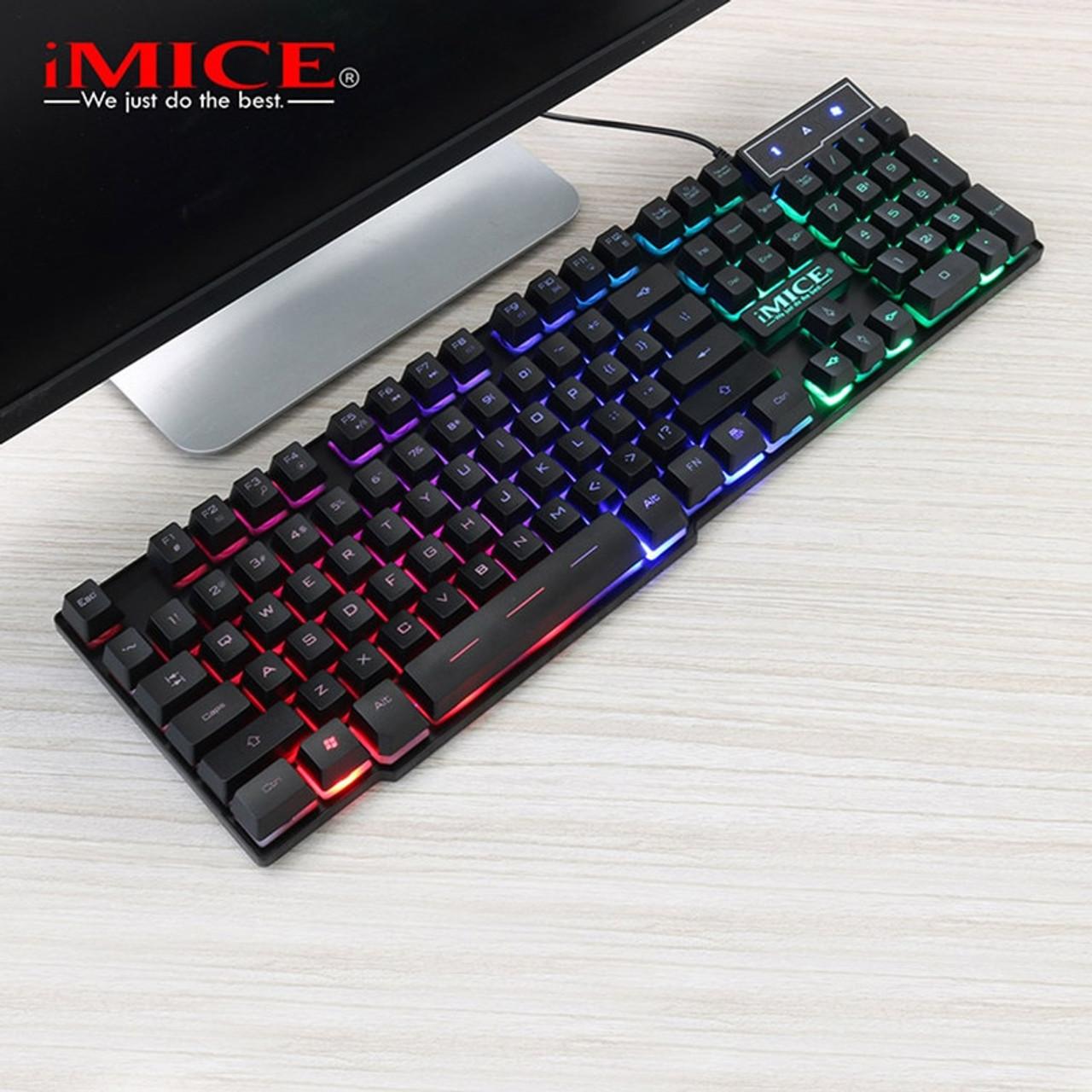 43ec13d8a88 ... Wired Gaming Keyboard Mechanical Feeling Backlit Keyboards USB 104  Keycaps Russian Keyboard Waterproof Computer Game Keyboards ...