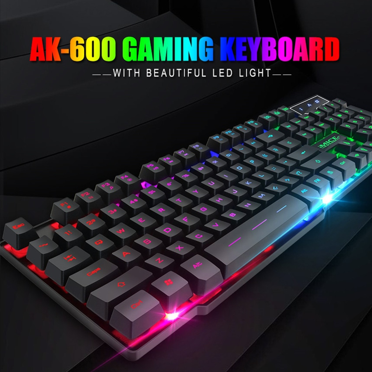 a8661f79f95 ... Wired Gaming Keyboard Mechanical Feeling Backlit Keyboards USB 104  Keycaps Russian Keyboard Waterproof Computer Game Keyboards ...