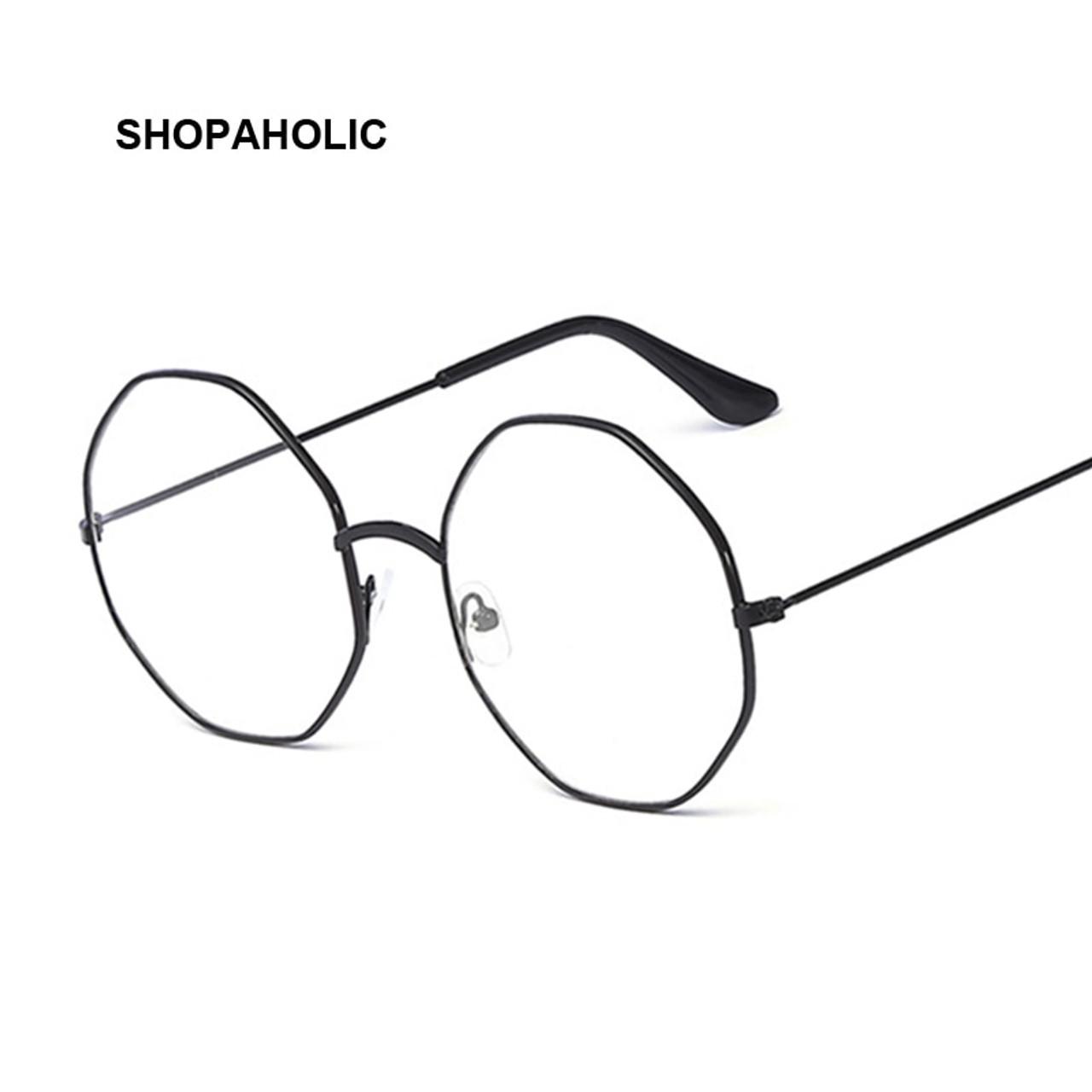 73d8de80bcc5 Glasses Round Spectacle Glasses Frame Sunglasses Men Women Vintage Metal  Mirror Sun Glasses Female Frames Optical ...