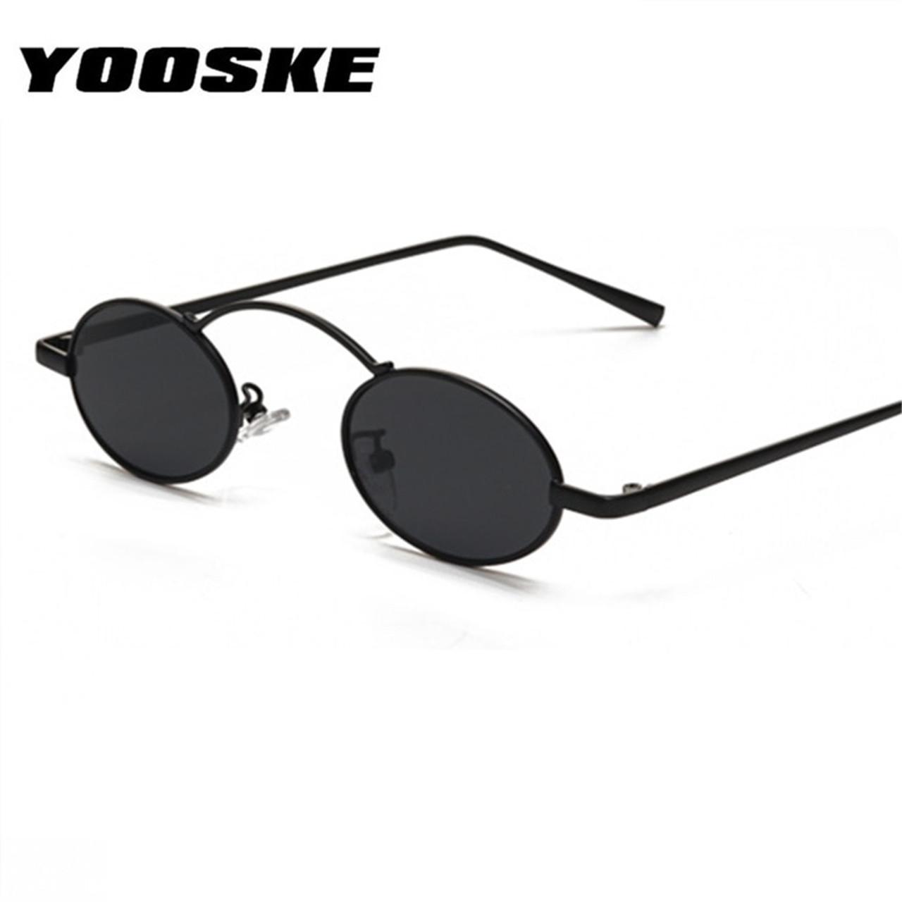 5507f339b180 YOOSKE Women Men Sunglasses Round Metal Frame Brand Designer Mirror  Eyewears Retro Females Male Sun Glasses ...