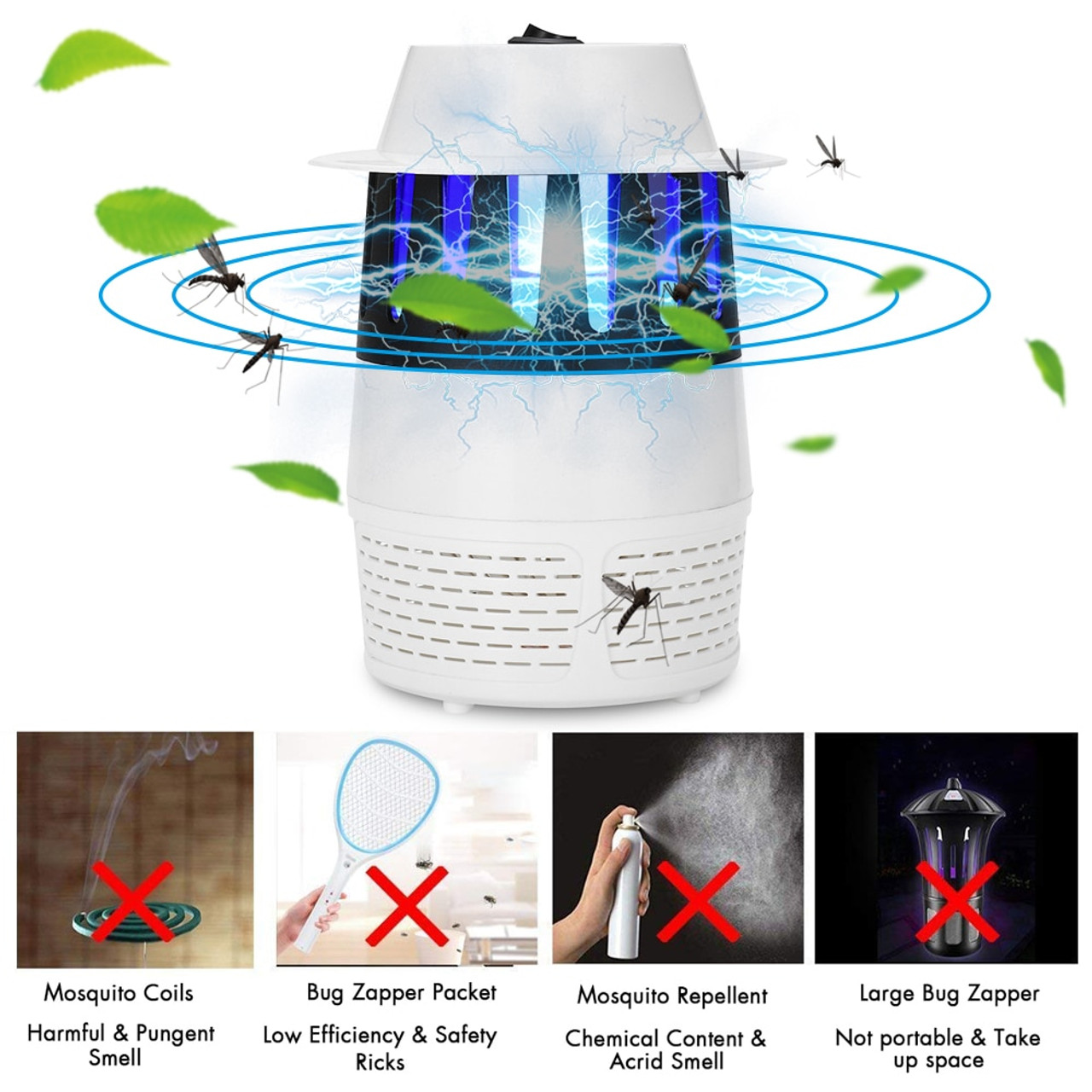 Camping & Outdoor LED Anti Mosquito Killer Lamp USB Mosquito Dispeller Non-radiation Indoor Campin