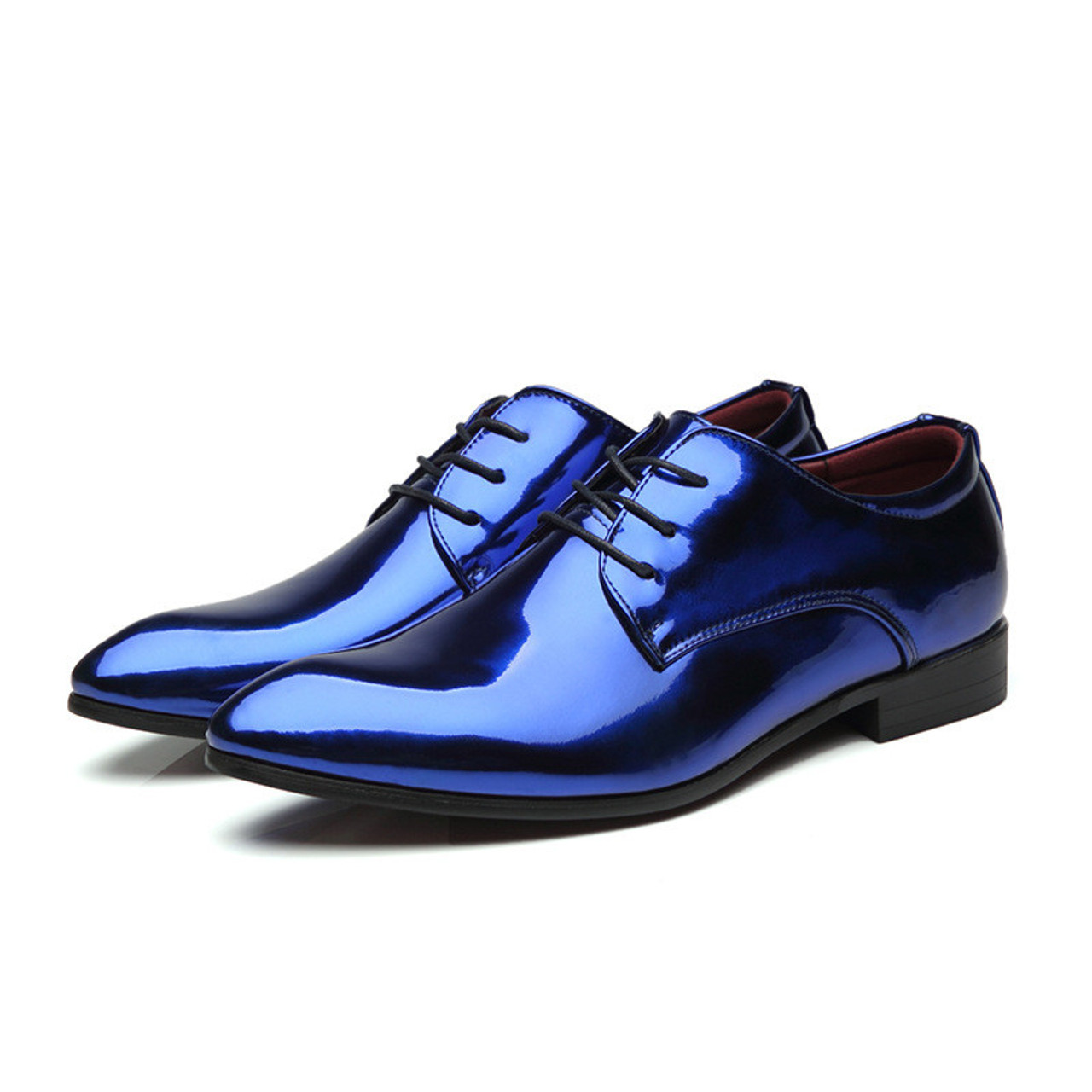 Merkmak Luxury Brand Men Glossy Oxfords Shoes New Trend Fashion British Style Male Lace Up Casual Shoe Larger Size Comfortable