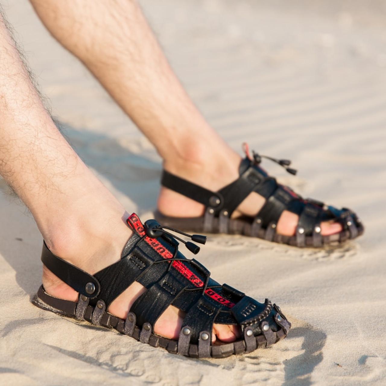 01c9bf124d89 ... BIMUDUIYU 2019 New Sandals Men Shoes Closed Toe Beach Lightweight  Slippers Sandals Classic Roman Sandals Outdoor ...