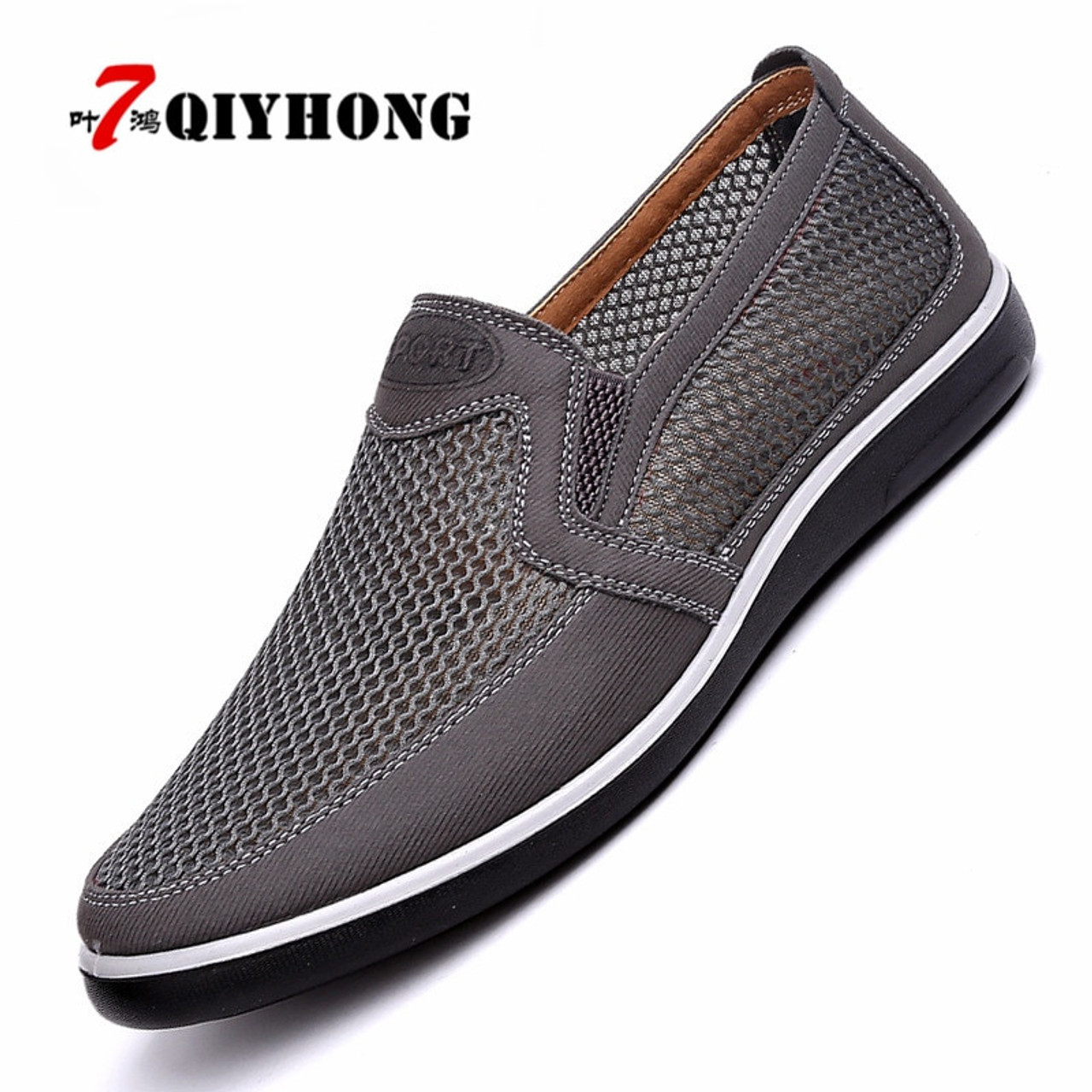 3bcc12edb7935 ... New Listing Summer Breathable Mesh Men Shoes Lightweight Men Flats  Fashion Casual Male Shoes Brand Designer ...