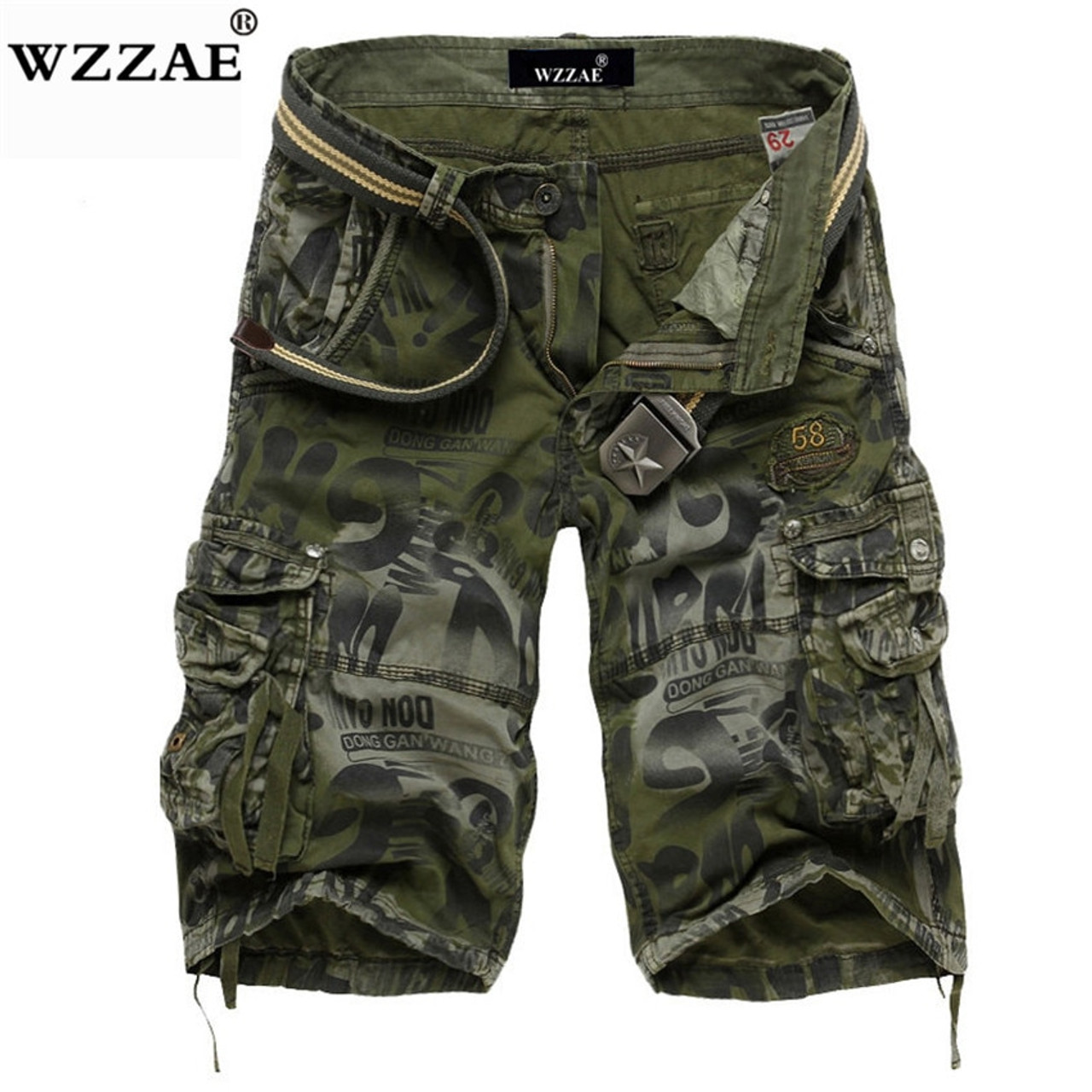 great deals 2017 get cheap low price sale WZZAE 2018 New Design Men Summer Camouflage Military Cargo Shorts Bermuda  Masculina Jeans Male Fashion Casual Baggy Denim Shorts