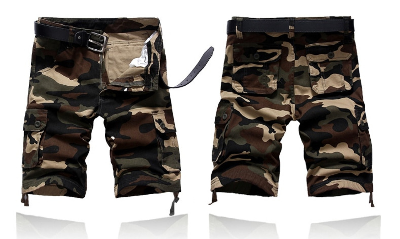 Mens Combat Summer Shorts Military Tactical Short Army Outdoor Camo Cargo Pants