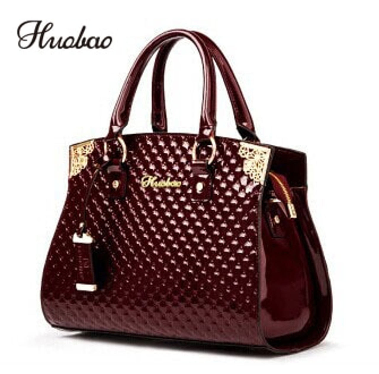 e6665b1e090 Women Genuine Patent Leather Handbags luxury Shoulder Crossbody Bag Handbag  Designer Purse Satchel Messenger Bag Ladies Tote bag