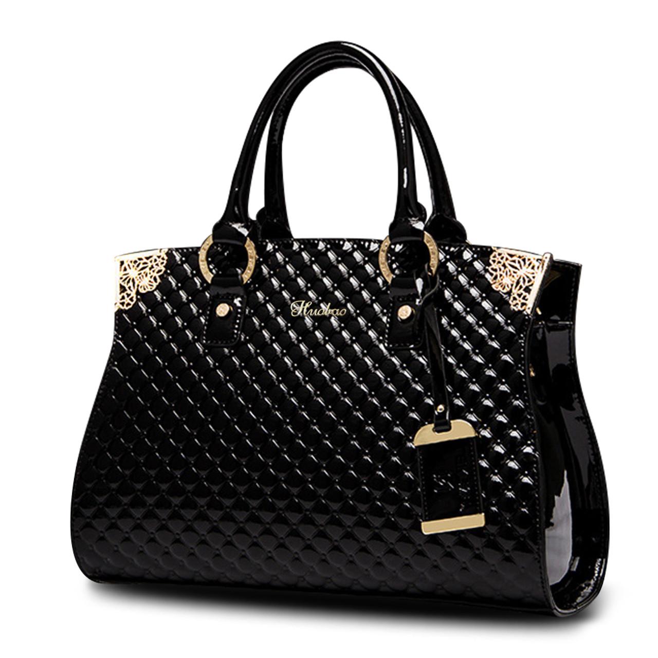 b1c80ea18b ... Women Genuine Patent Leather Handbags luxury Shoulder Crossbody Bag  Handbag Designer Purse Satchel Messenger Bag Ladies ...
