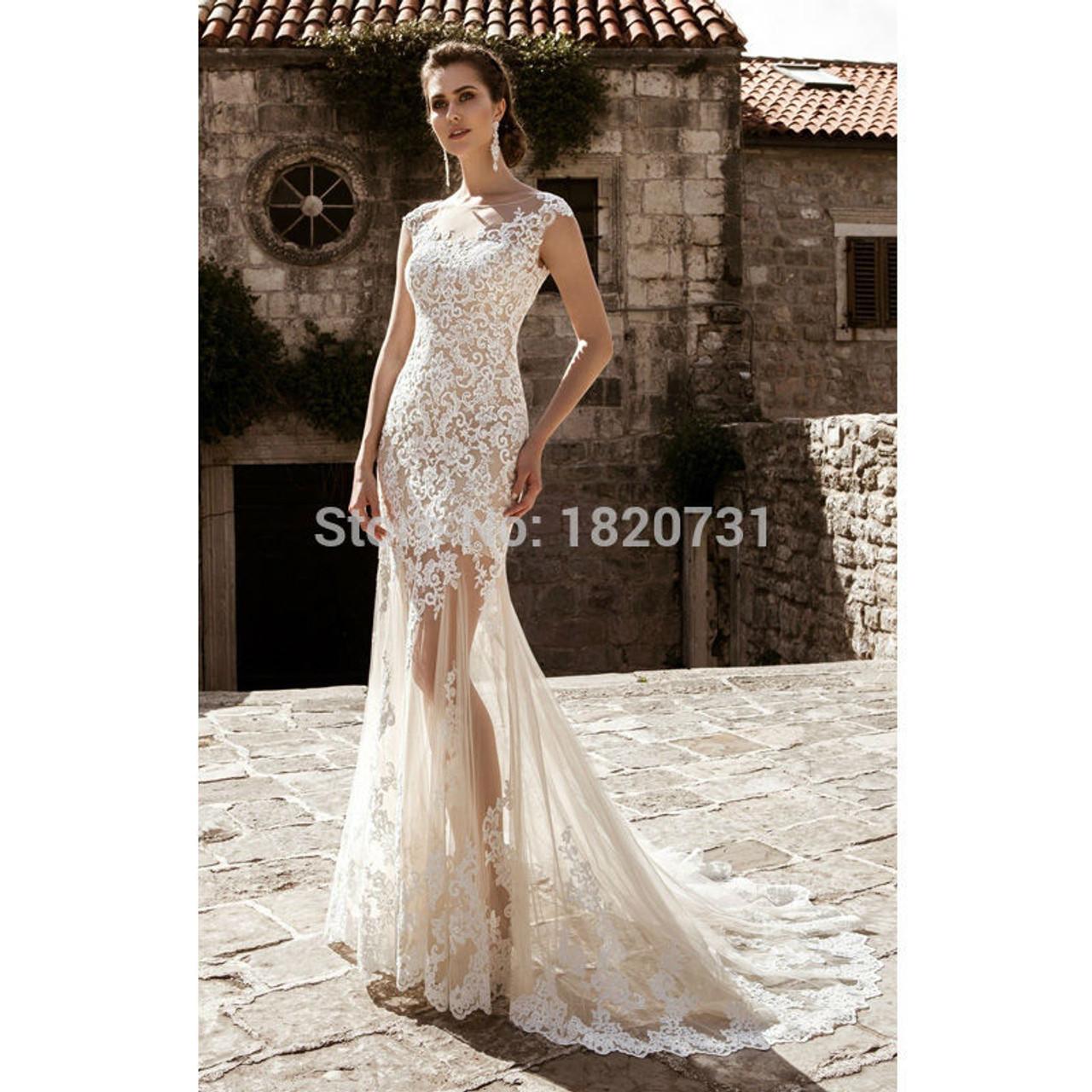 Detachable Wedding Dress.Vestido De Noiva Bridal Gown Champagne Vintage Sexy Lace Detachable Skirt Wedding Dress 2019 Detachable Wedding Dress Train