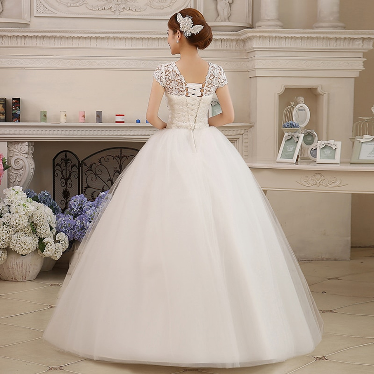 Fansmile Real Photo Cheap Short Sleeve Ball Wedding Dresses 2019 Lace Vintage Plus Size Bridal Gown Vestido De Noiva Fsm 038f Onshopdeals Com,Womens Wedding Guest Dresses Near Me