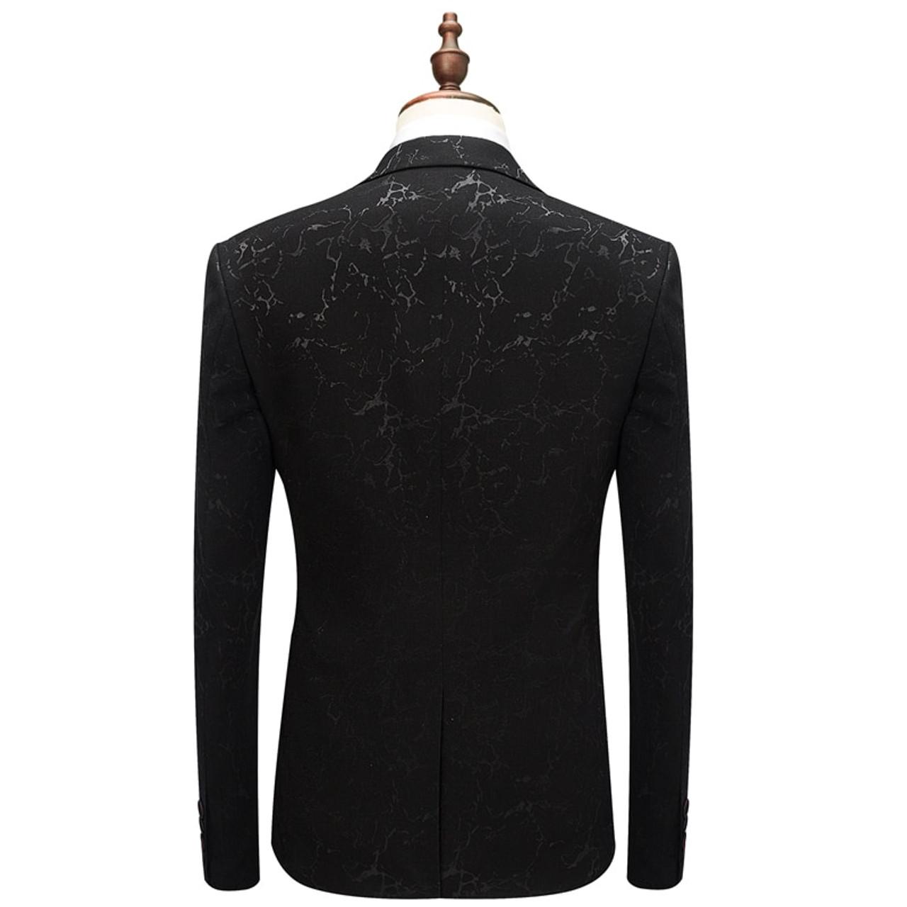 976bba1d5e6 ... Plyesxale Wedding Tuxedo Suits For Men 3 Piece Slim Fit Mens Printed  Suit Brand 5XL 6XL ...