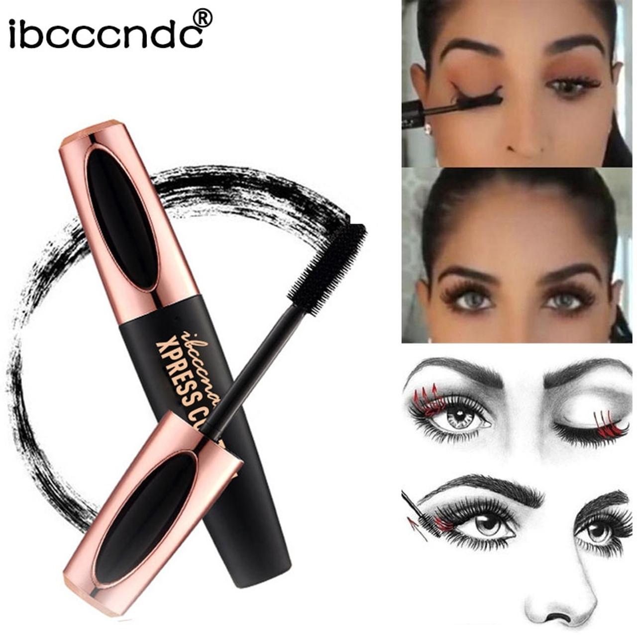 f6611e7df50 ... New 4D Silk Fiber Lash Mascara Waterproof Rimel 3d Mascara For Eyelash  Extension Black Thick Lengthening ...