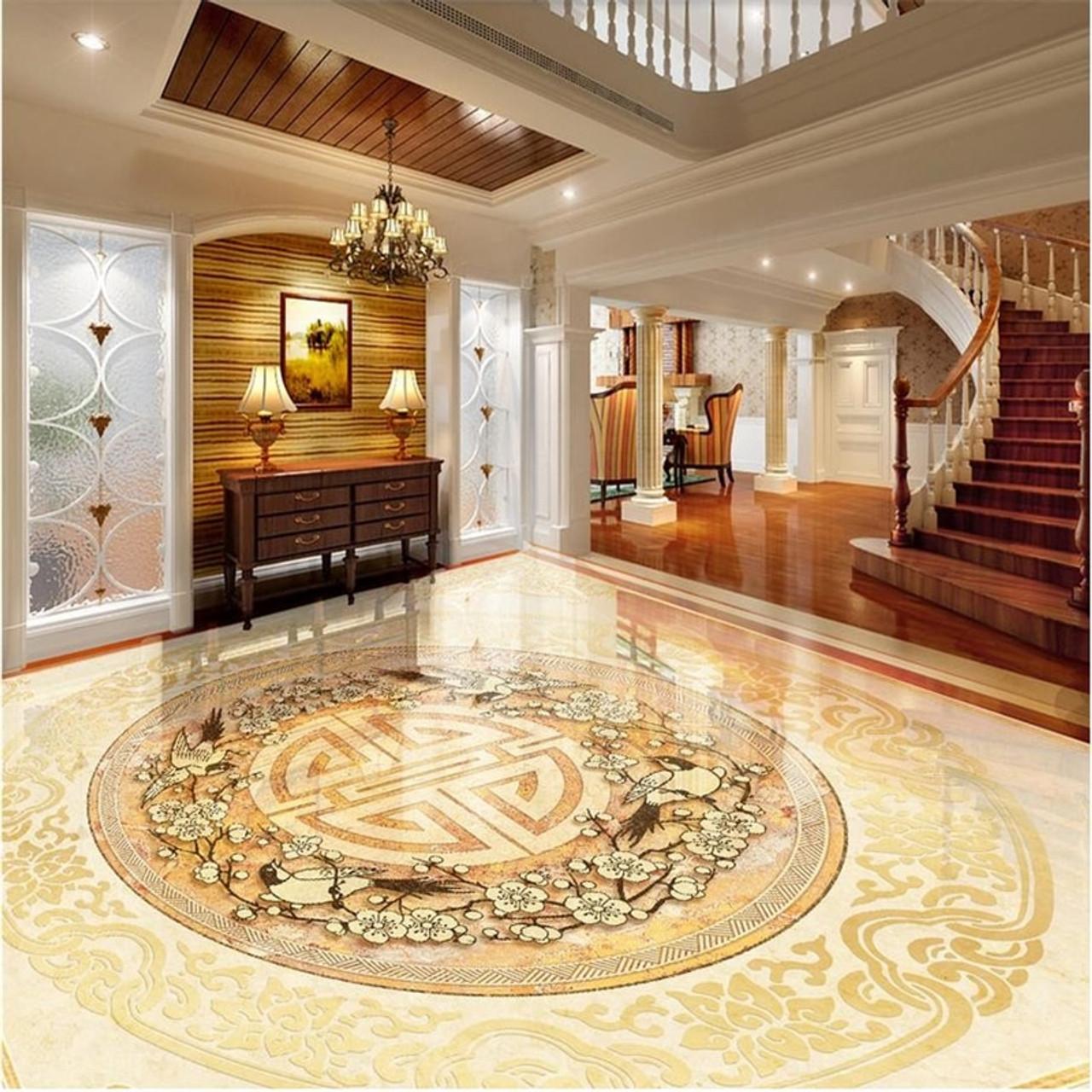 Beibehang Photo Floor Wallpaper 3d Stereoscopic Marble 3d Stereoscopic Wallpaper Floor 3d Wall Mural Flooring