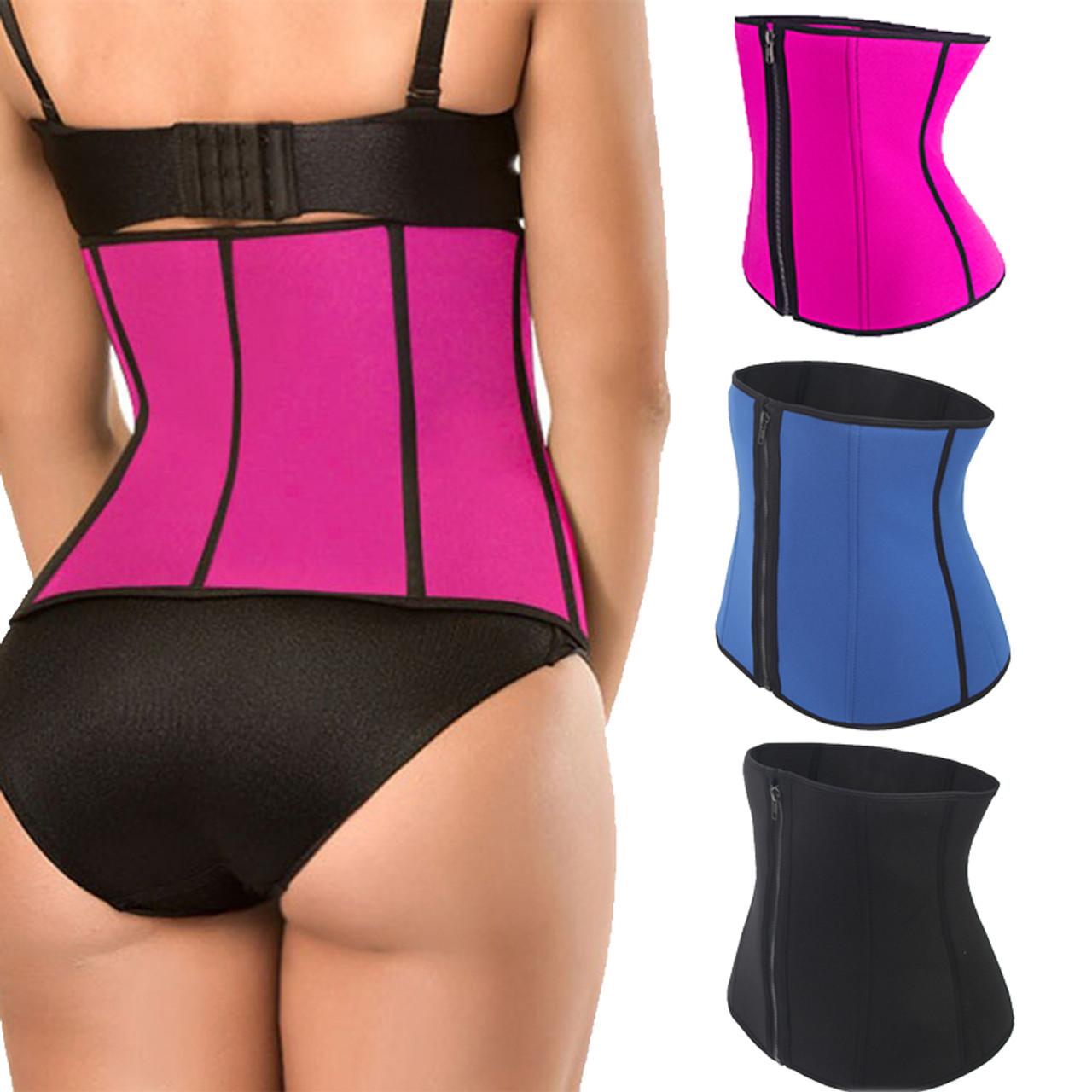 41484f114 FLORATA Body Shapers Unisex Waist Cincher Trimmer Tummy Slimming Belt Latex  Waist Trainer Men Women Postpartum ...