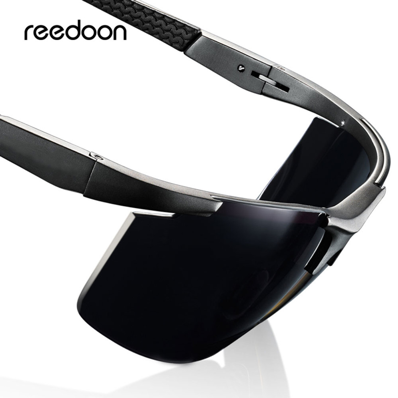 4a9fbd7519e68 Reedoon Polarized Sunglasses HD Lens UV400 Metal Frame Male Sun Glasses  Brand Designer Driving Goggles For ...