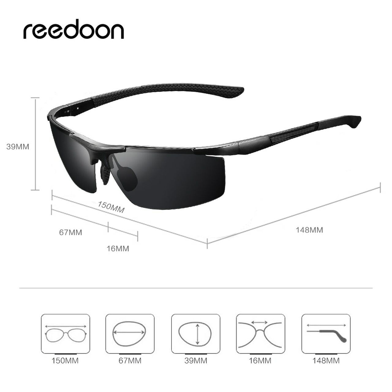 f279170896bc3 ... Reedoon Polarized Sunglasses HD Lens UV400 Metal Frame Male Sun Glasses  Brand Designer Driving Goggles For ...