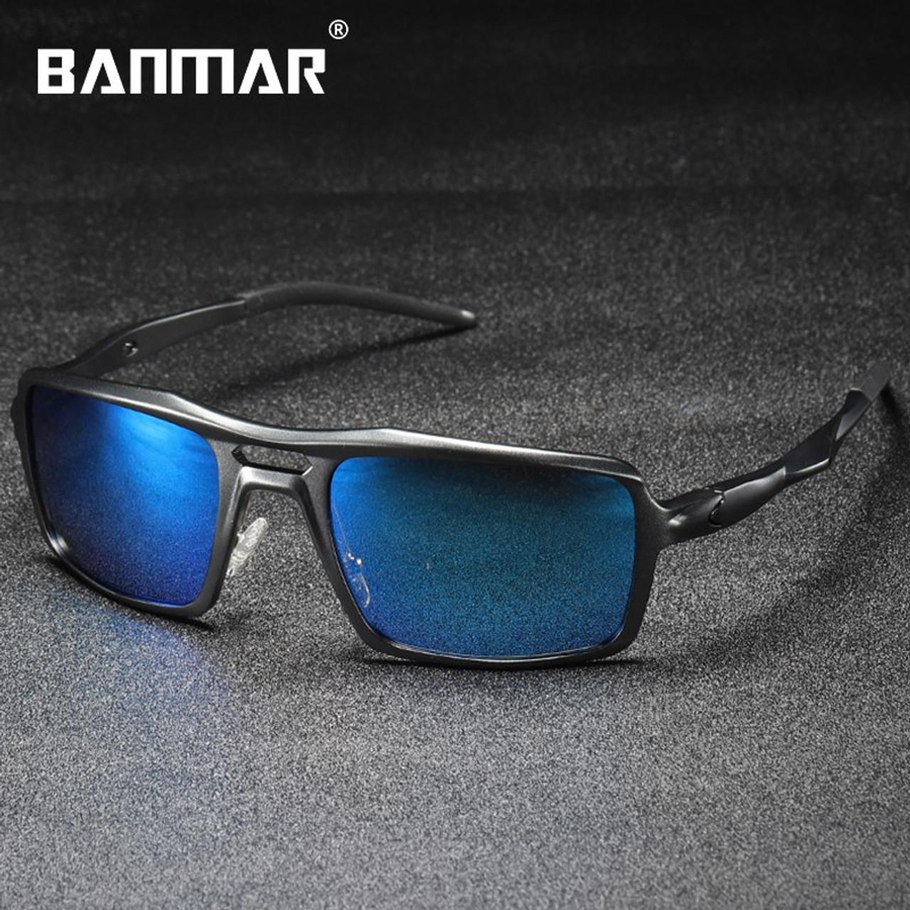 290d55a8f2 BANMAR Sunglasses Men Aluminum Magnesium Sun Glasses AL-MG Polarized  Driving Male Eyewear Anti Glare ...