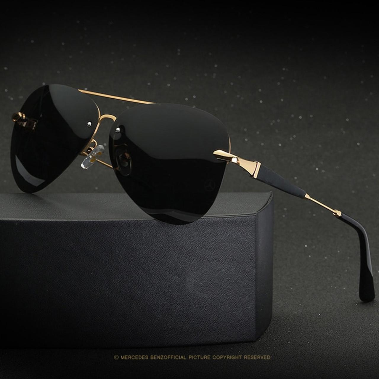 8b07ca503a3 ... 2019 high quality Frameless Polarized Sunglasses Men uv400 Brand  Designer Oculos De Sol Driving Fishing Sun ...