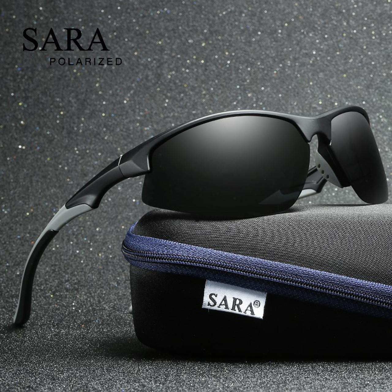892fc8ff28fa SARA Male Sun Glasses Fashion Sports Polarized Sunglasses For Men Women UV400  Driving Fishing Shades Lenses ...