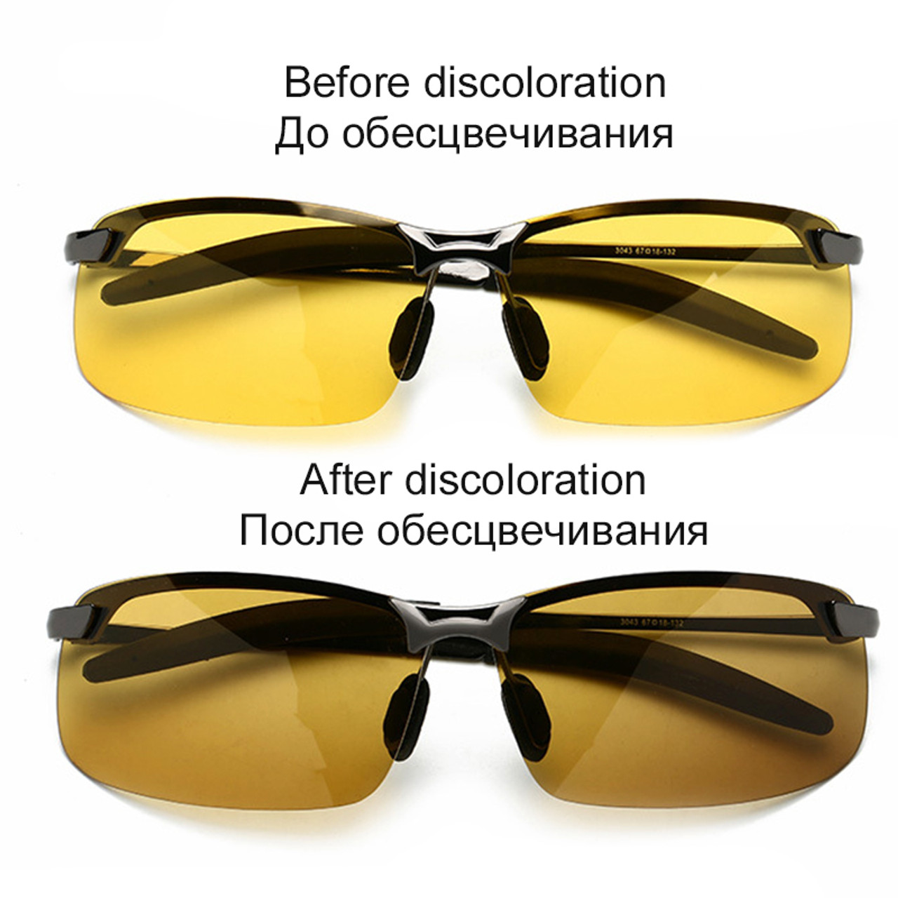 1377eaf69d91b ... 2019 New Photochromic Sunglasses Men Polarized Goggle Male Change Color Sun  Glasses Day Night Vision Driving ...