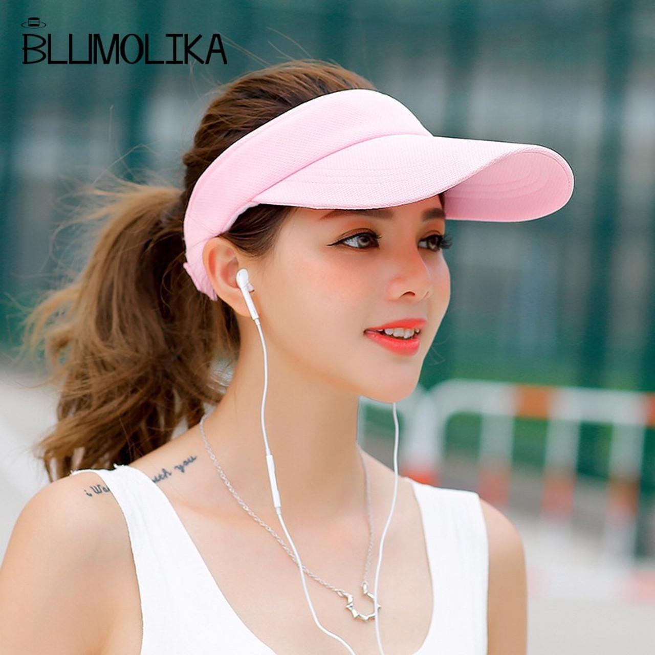 9990082b6 Hot Selling New Tennis Caps Stylish Women Men Unisex Beach Sports Sun Visor  Hat Golf Caps Summer Travel Sun Hat Outdoor On Sale
