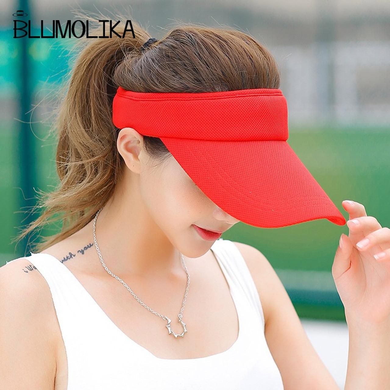 69bbf8e7 ... Hot Selling New Tennis Caps Stylish Women Men Unisex Beach Sports Sun  Visor Hat Golf Caps ...