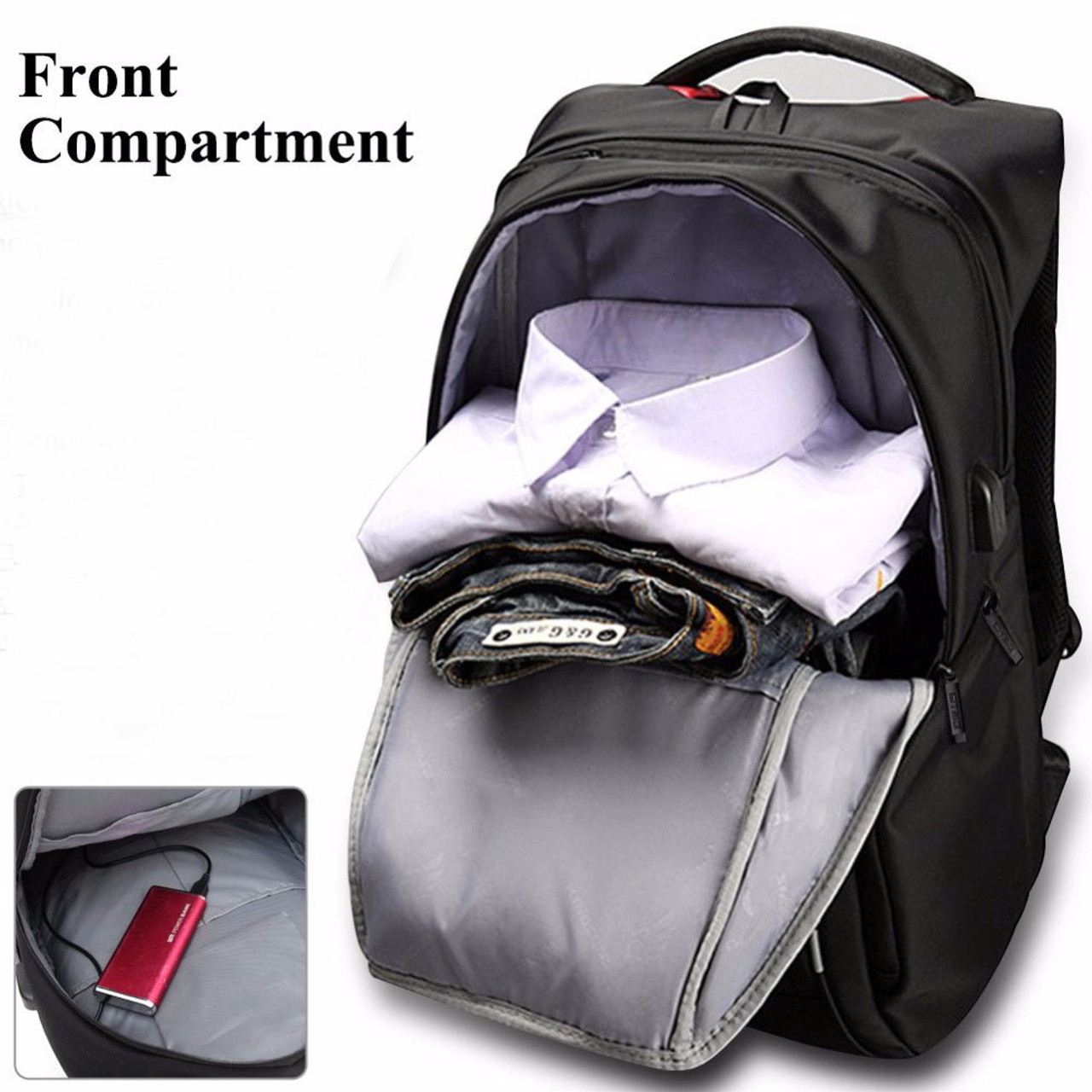 Notebook Laptop Backpack+USB Charging Port For Men Women Fit 1517 Inches Tablet