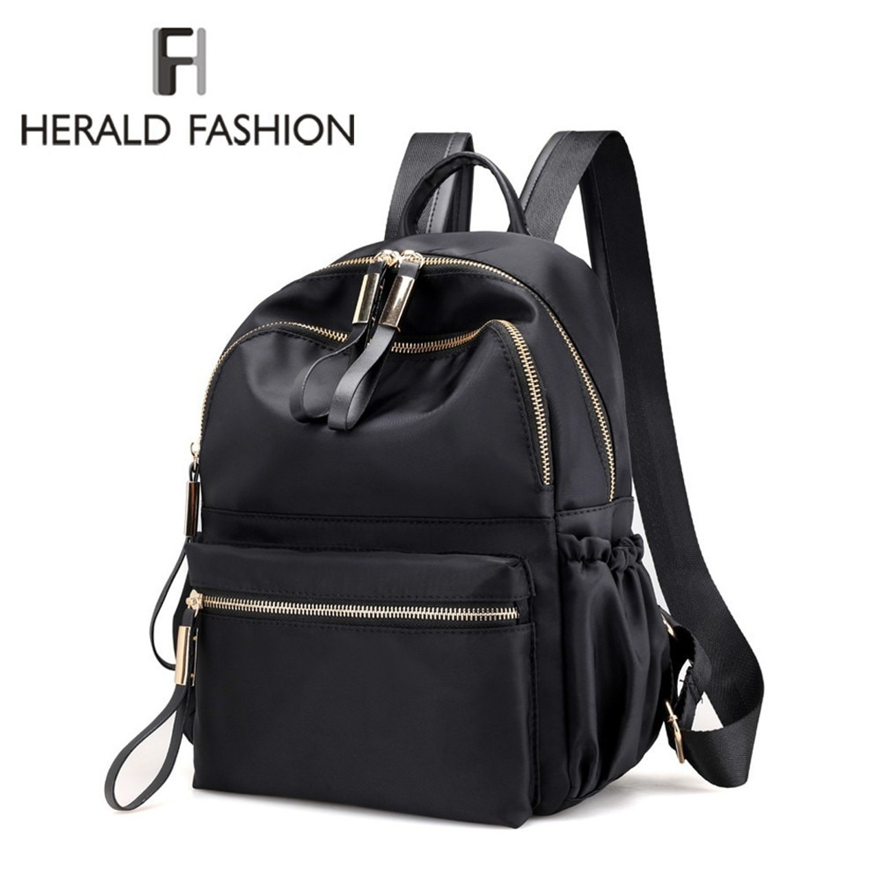 34f98391bc5 Herald Fashion Backpack Women Leisure Back Pack Korean Ladies Knapsack  Casual Travel Bags for School Teenage Girls Bagpack