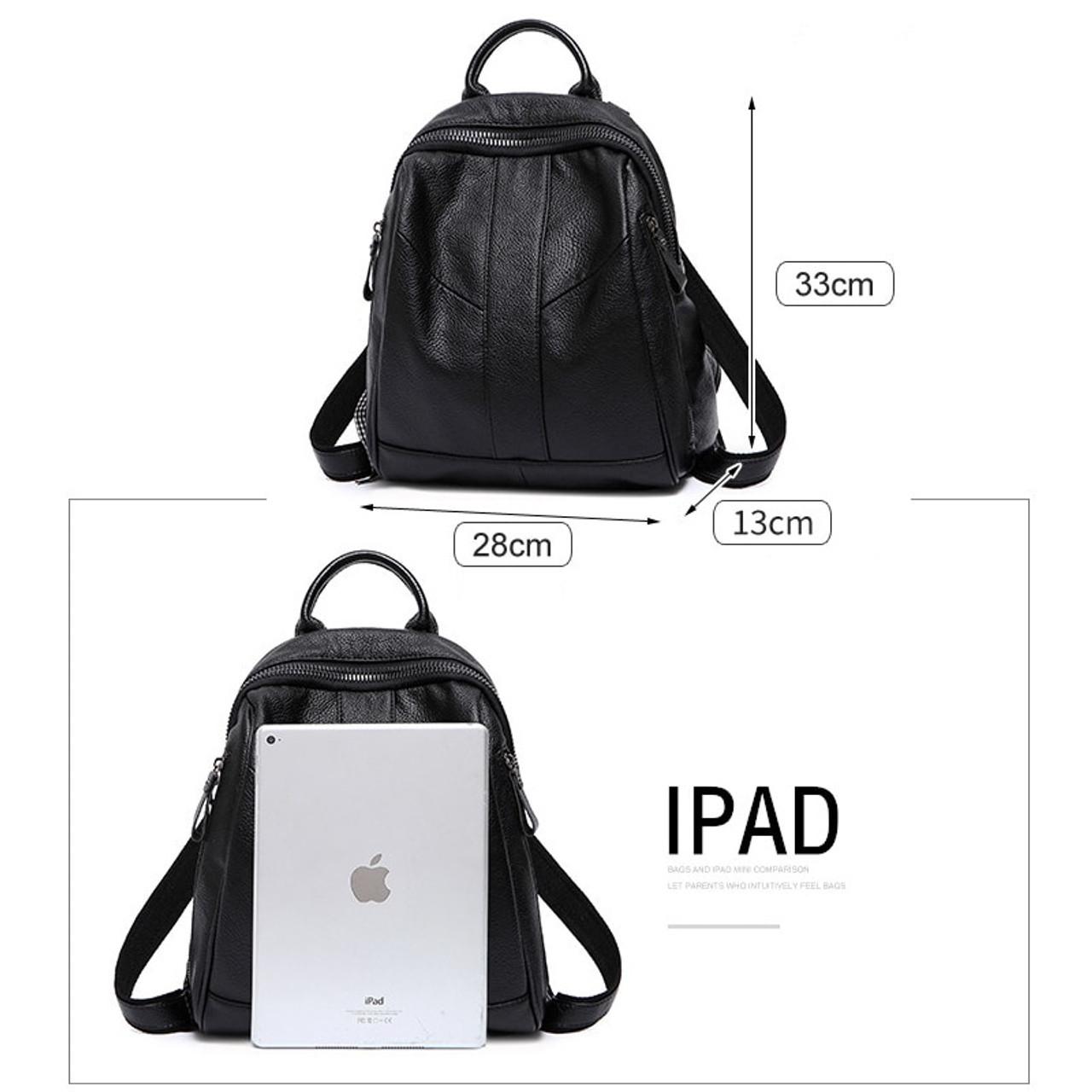 9721d89220ee8 ... LUISE Brand Women s Real Leather Backpack Designer Ladies Backpack  Korean School Back Bags Fashion Bookbag Back ...