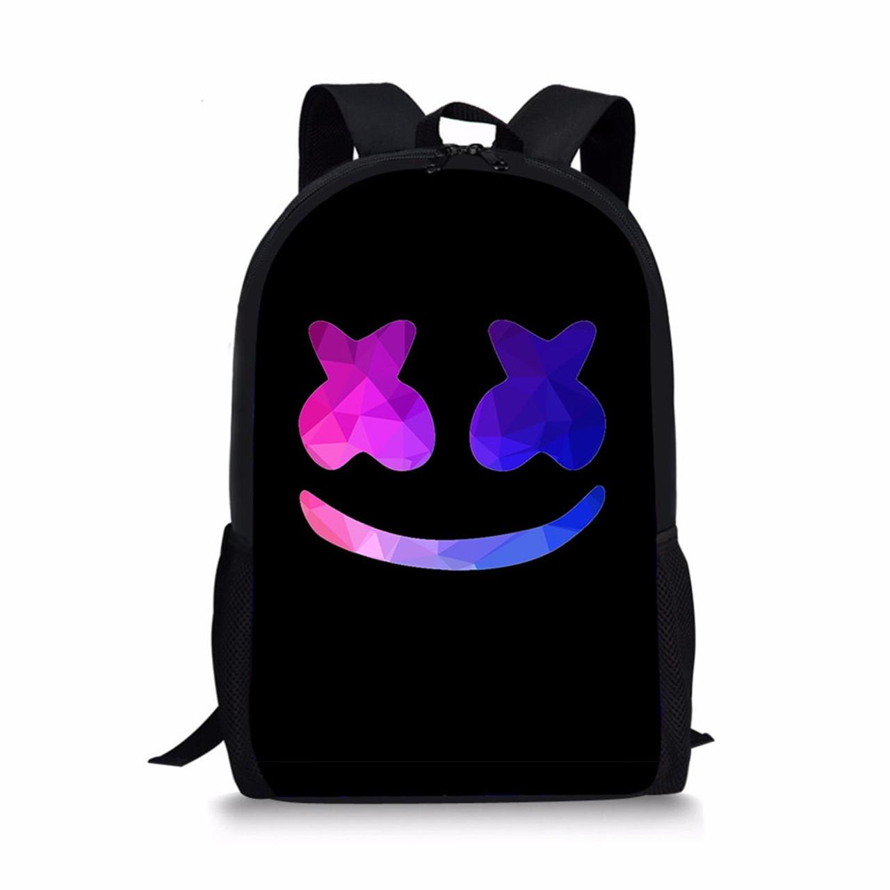 8f0f32123b9 Noisydesigns marshmello fashion backpack boys schoolbags child mochila bag  kids back pack infantil school bags small dj helmet