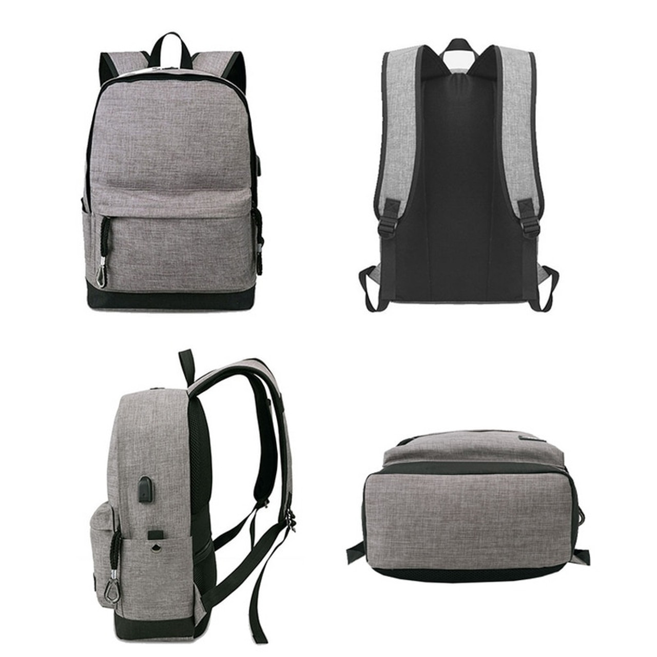 e87c70f7ab4d canvas backpack men Casual Back Pack USB High school bags for Teenagers  Boys Schoolbag teens black Large Capacity male Bagpack