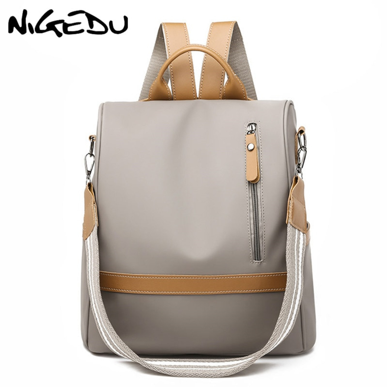 Fashion Unisex Nylon Backpack Rucksack Waterproof Travel Shoulder School Bookbag