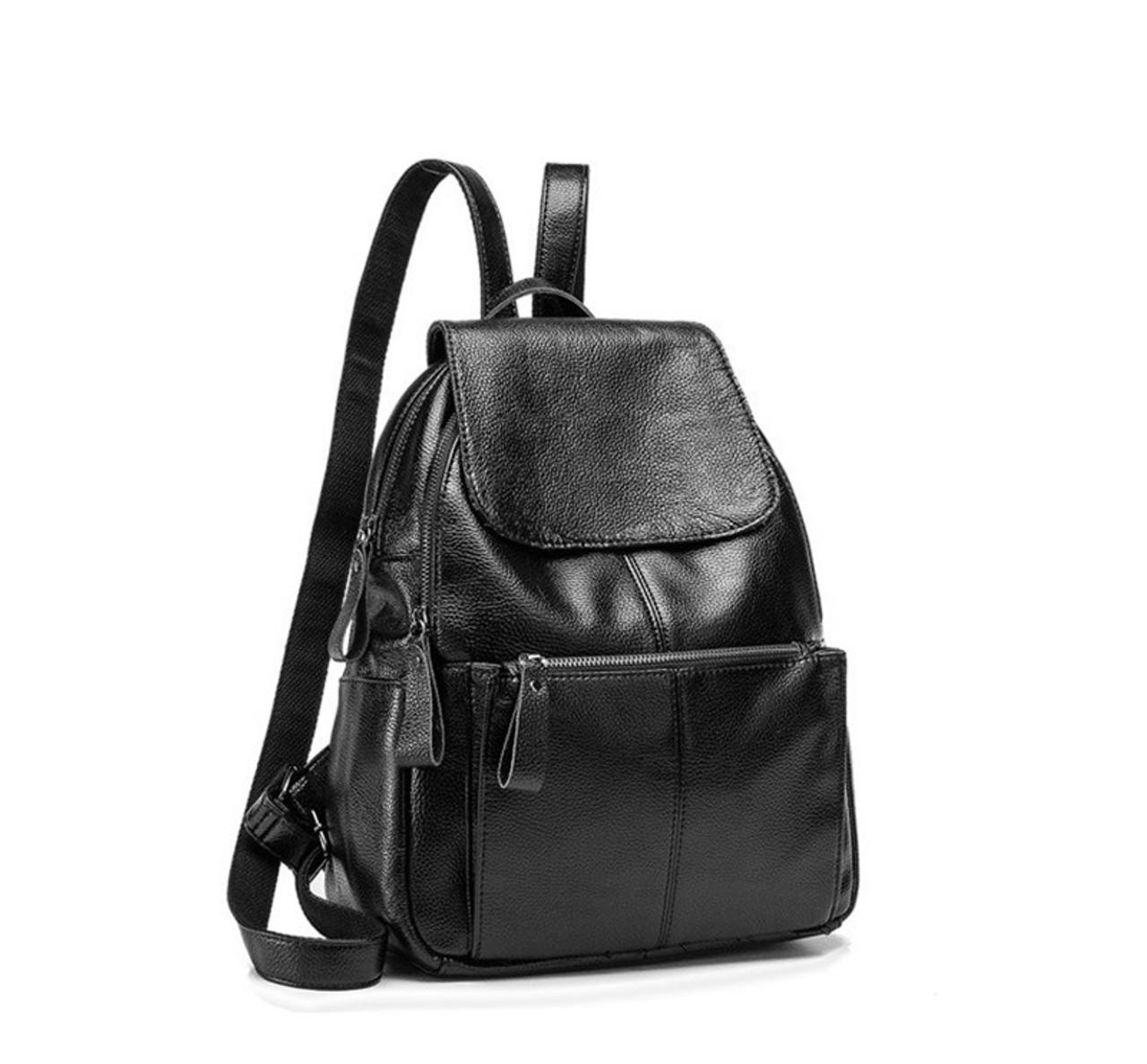 242195811884 New Fashion Casual Women Backpack Female Leather Women's Backpacks Black  Bagpack Bags Girls Schoolbag Travel Bag back pack