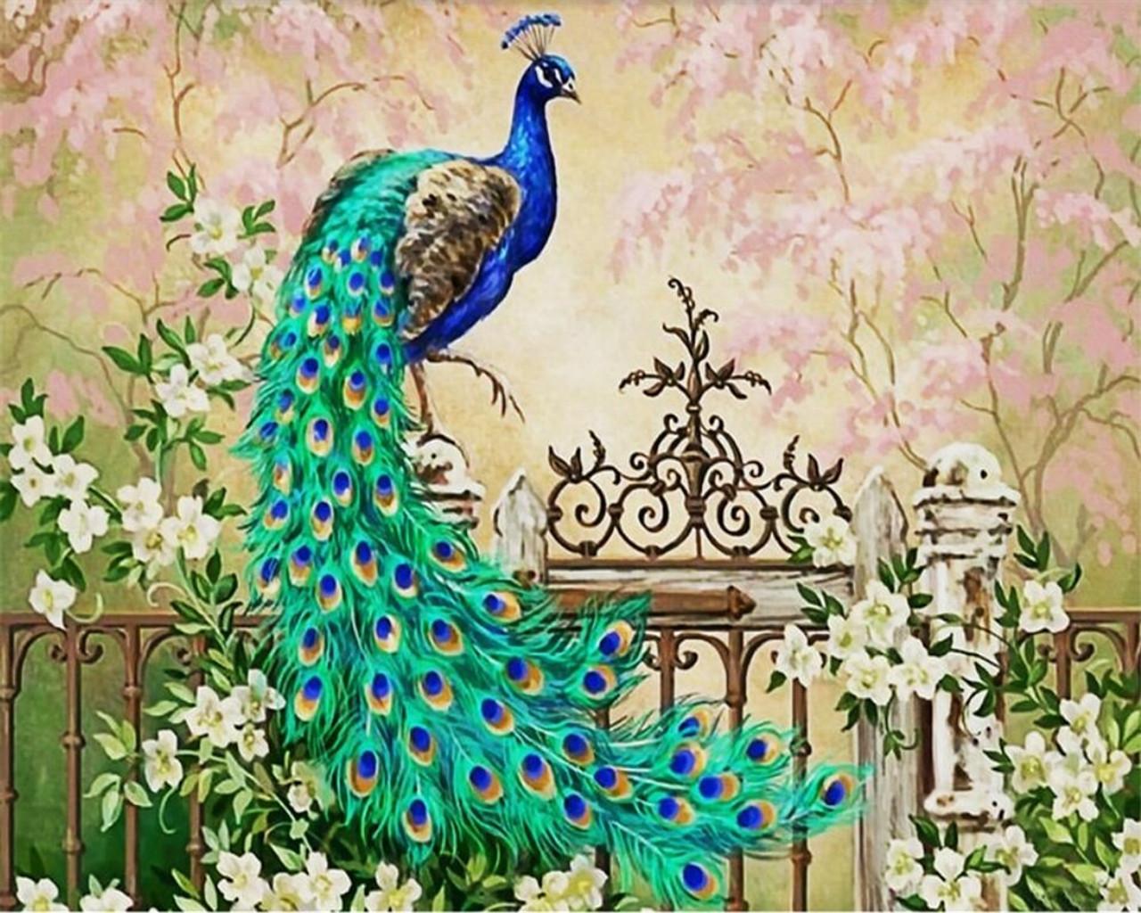 Beibehang Custom Large 3d Wallpaper Peacock European Oil Painting