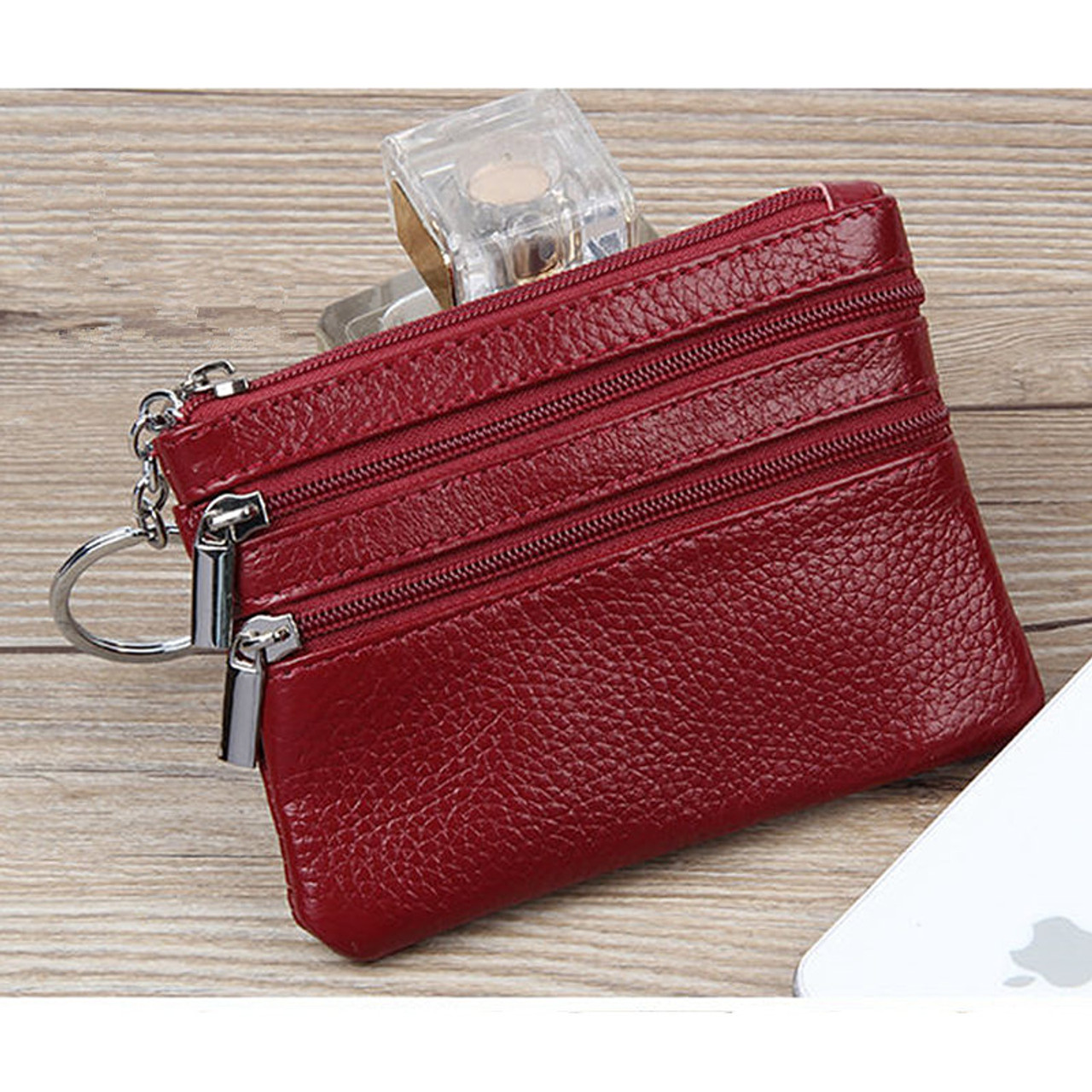 YaHe Small Women Leather Coin Purses Mini Female Coin Wallets with Zip Coin  Bag for Key Card Change Pouch Hand Bags for Women - OnshopDeals.Com