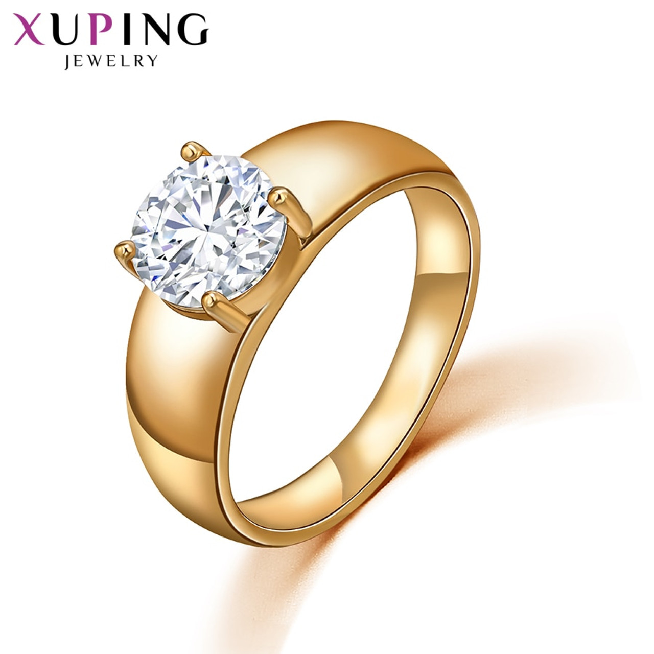 1d3c25686 Xuping Christmas Luxury Ring Popular Design Charm Style Girl Women Gold  Color Plated Jewelry Valentine's Day Gift 10534 - OnshopDeals.Com