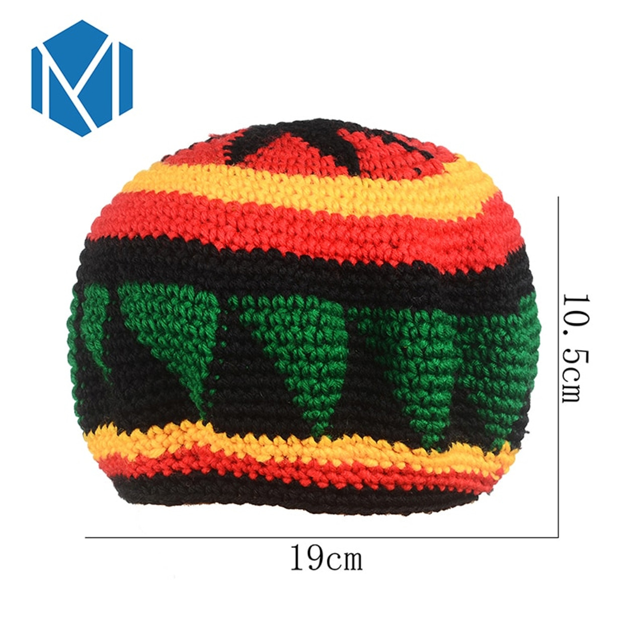 ed22dc7bc89 ... Miya Mona Men s Winter Hat Wig Braid Jamaican Bob Marley Rasta  Multicolor Headwear Striped Cappello Beanie ...