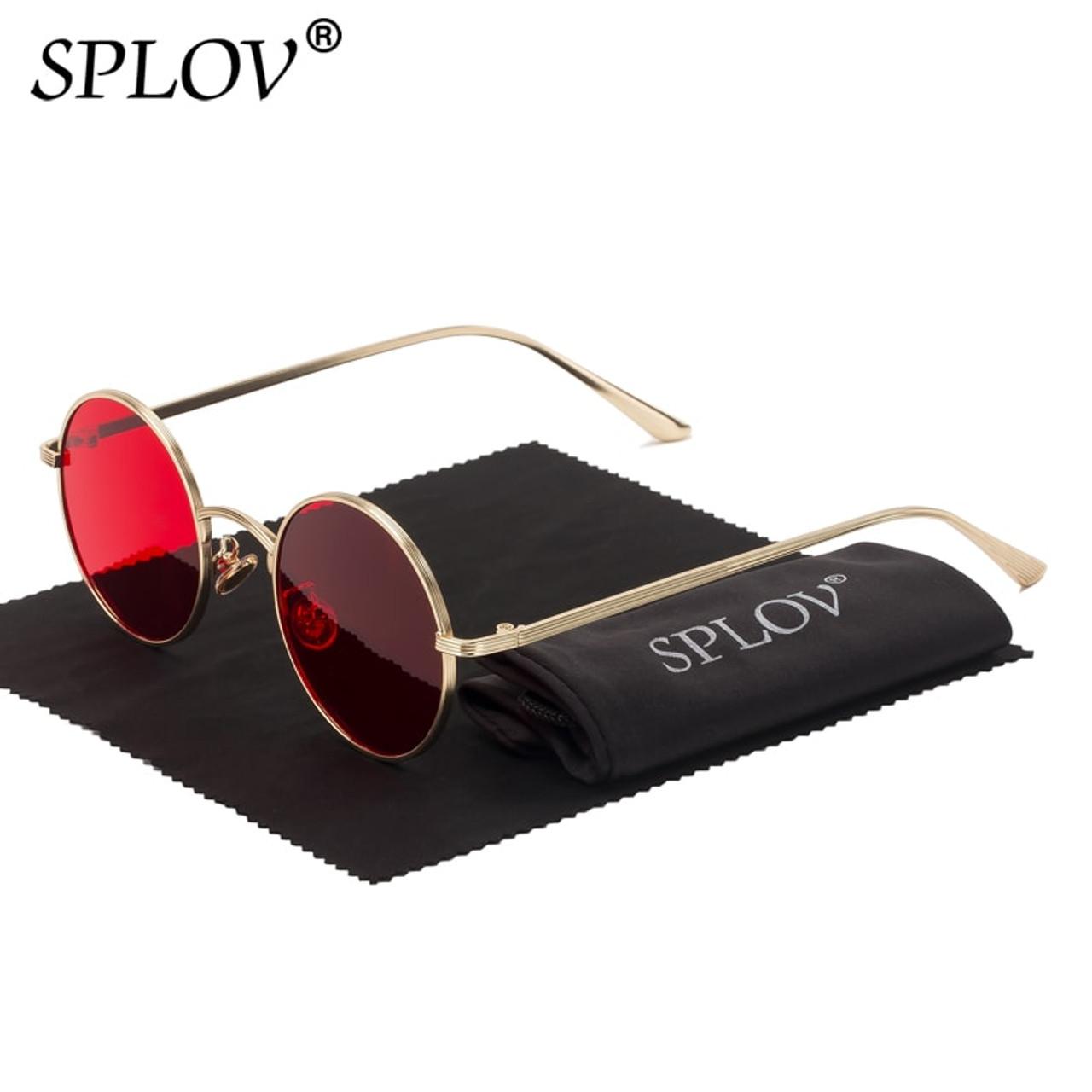 Splov Vintage Men Sunglasses Women Retro Punk Style Round Metal Frame Colorful Lens Sun Glasses Fashion Eyewear Gafas Sol Mujer Onshopdeals Com