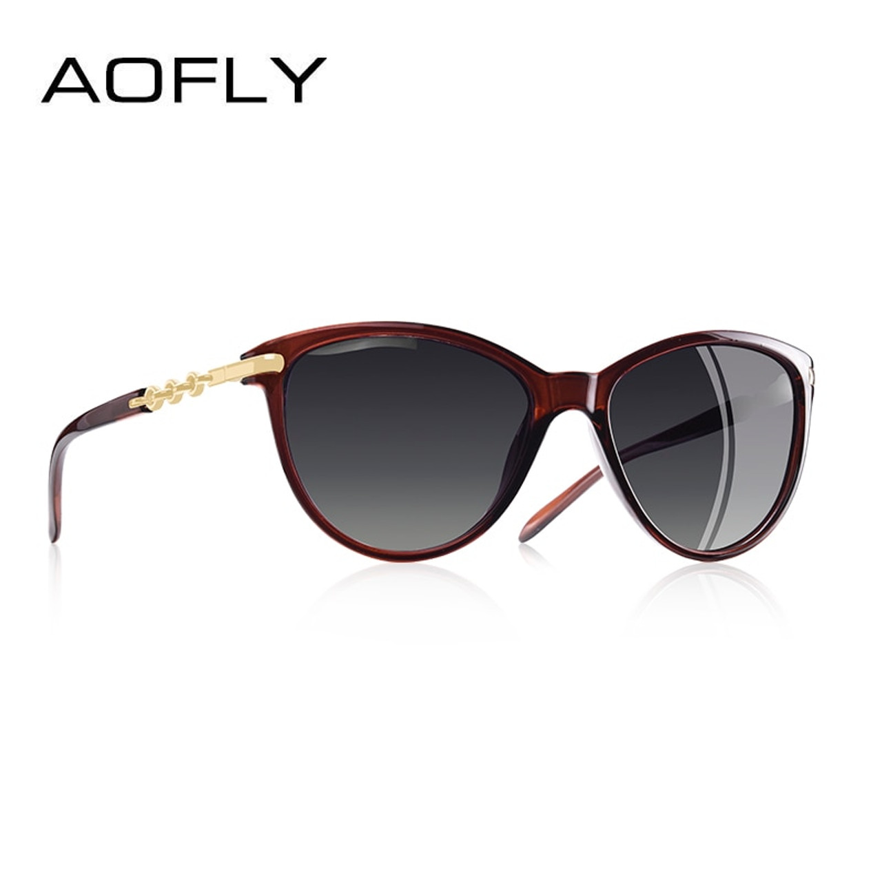 6eec9f93b5 ... AOFLY BRAND DESIGN Cat Eye Polarized Sunglasses Women Polarized Sun Glasses  Female Gradient Shades Oculos Feminino ...